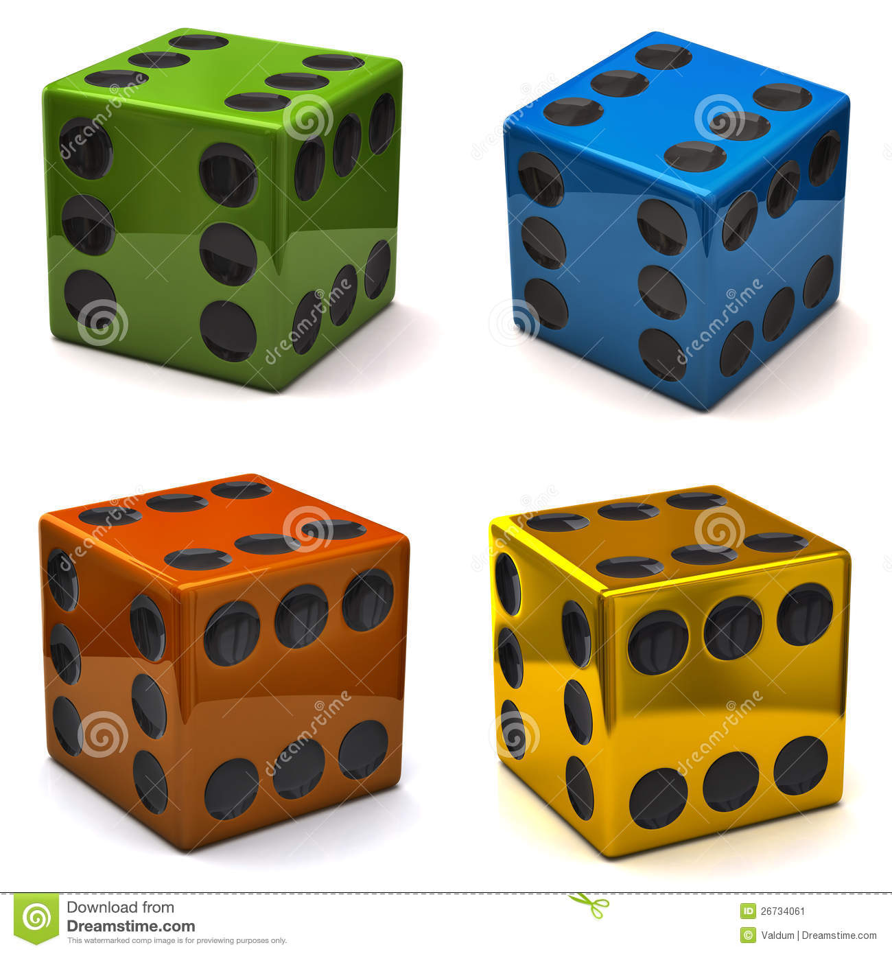 dice all sides