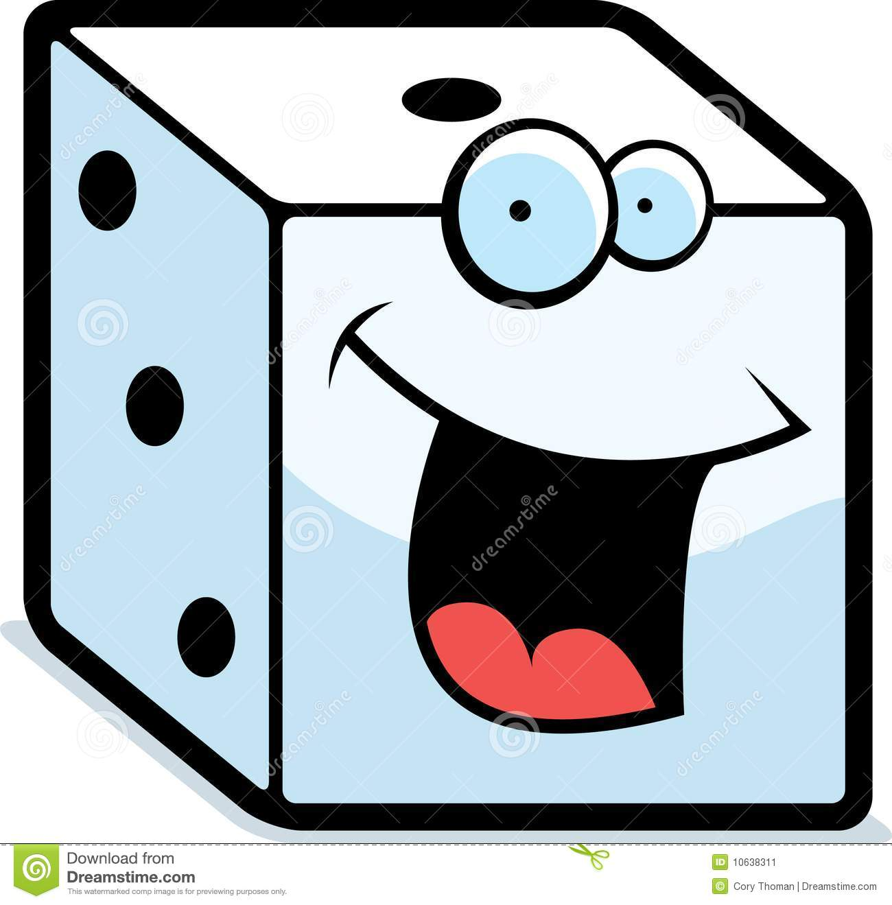 Dice Smiling Stock Image Image 10638311