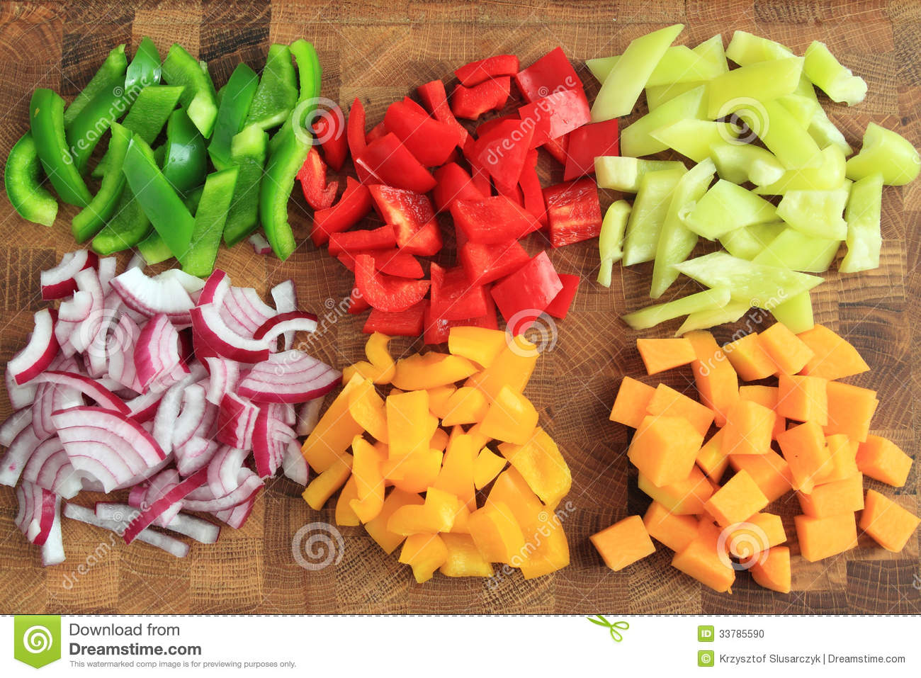 Diced Vegetables Stock Photo - Image: 33785590