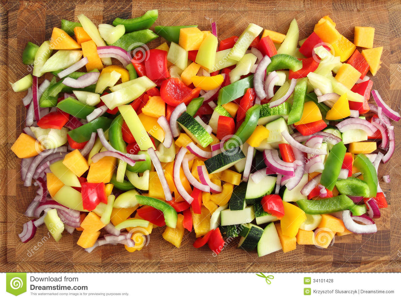 Diced vegetables stock photo. Image of peppers, healthy ...