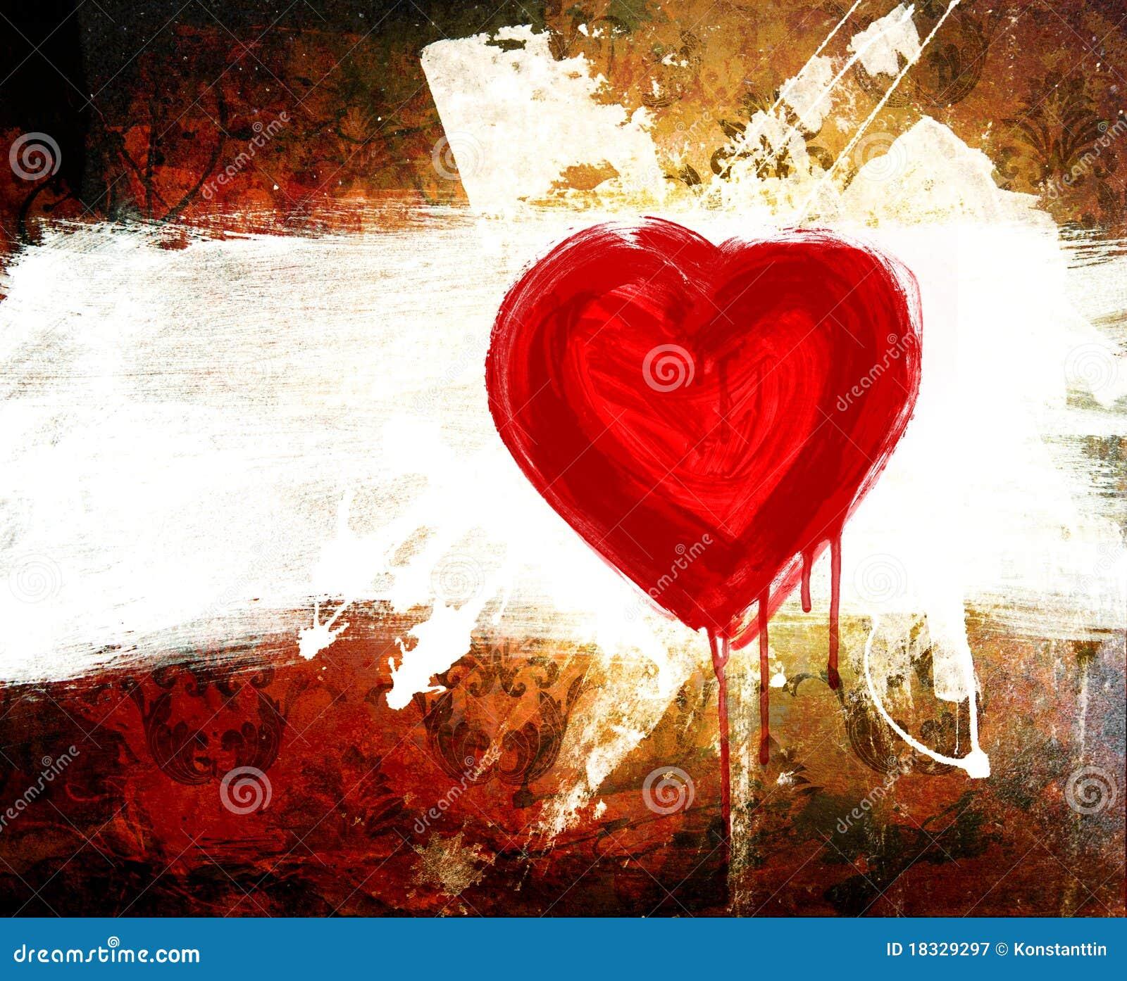 Dichiarazione del grunge di arte di amore