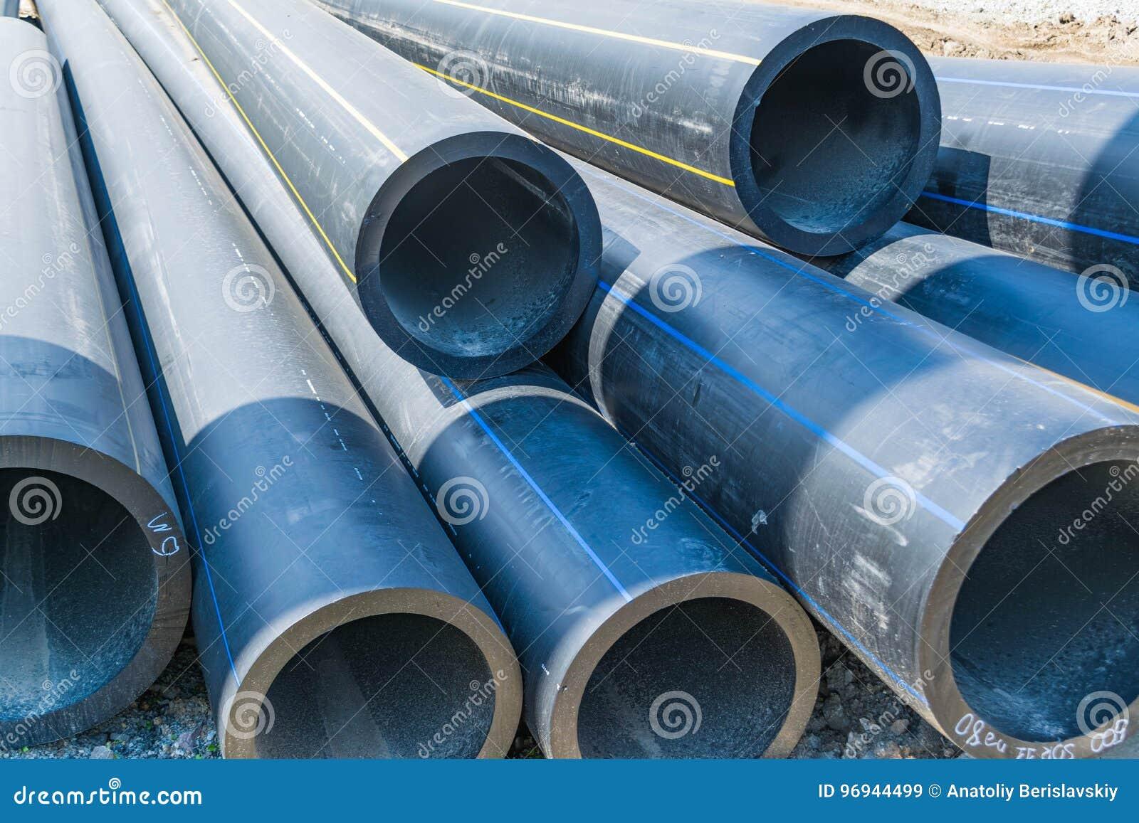 Dickwandige Wasserleitungen Von Grosser Durchmesser Pvc Stockbild