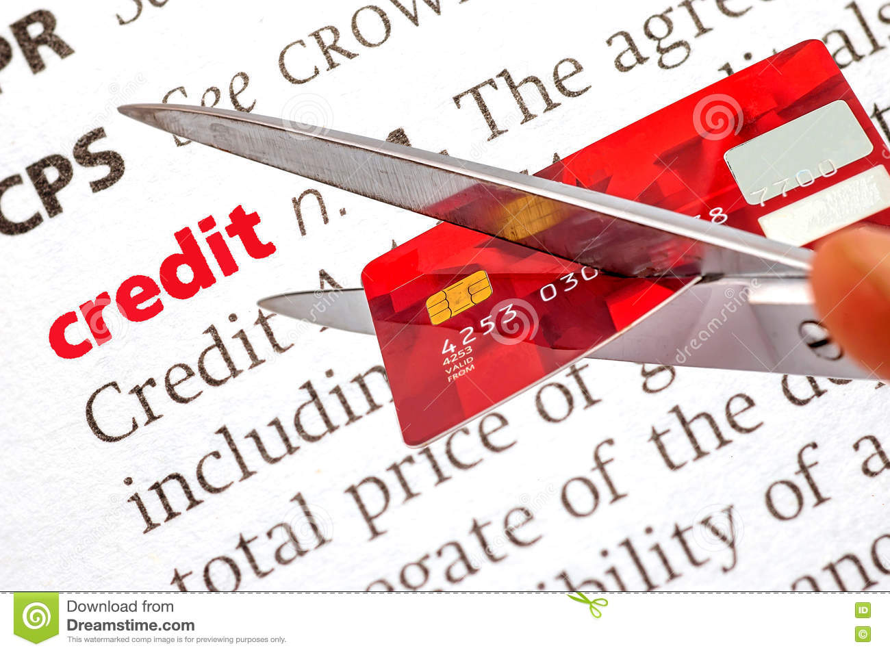 dictionary definition of credit stock image - image of reject