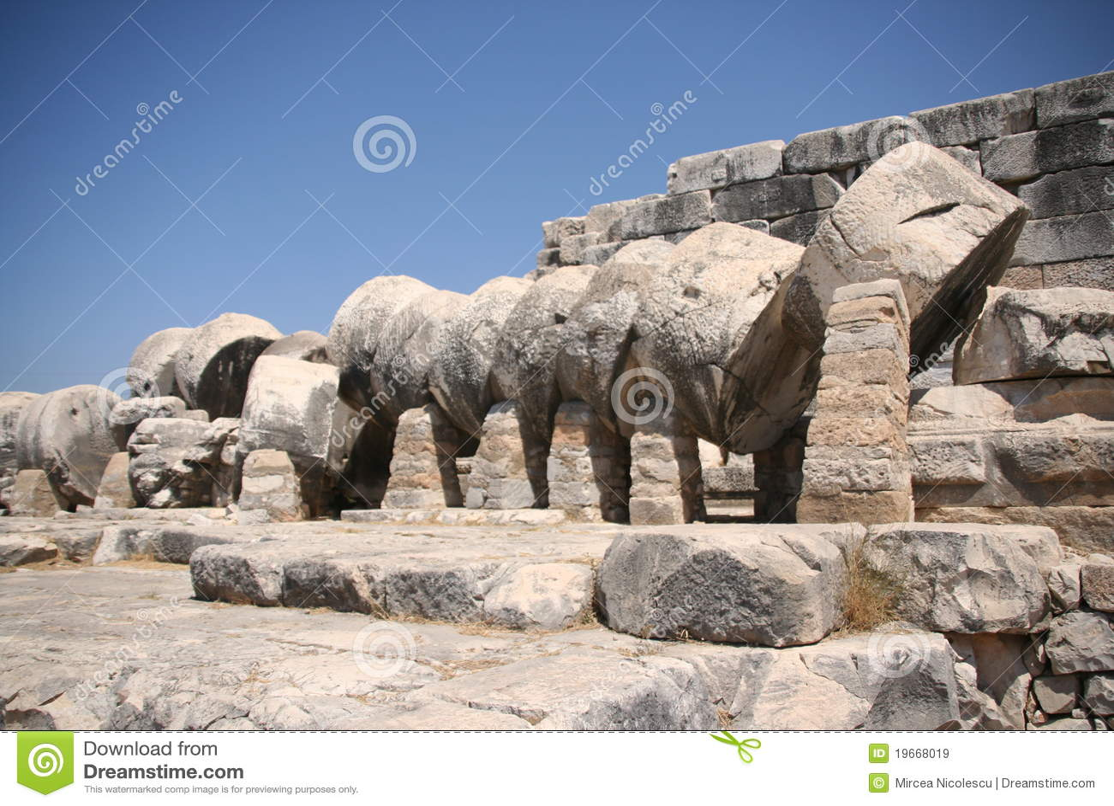 Didim Apollo temple column