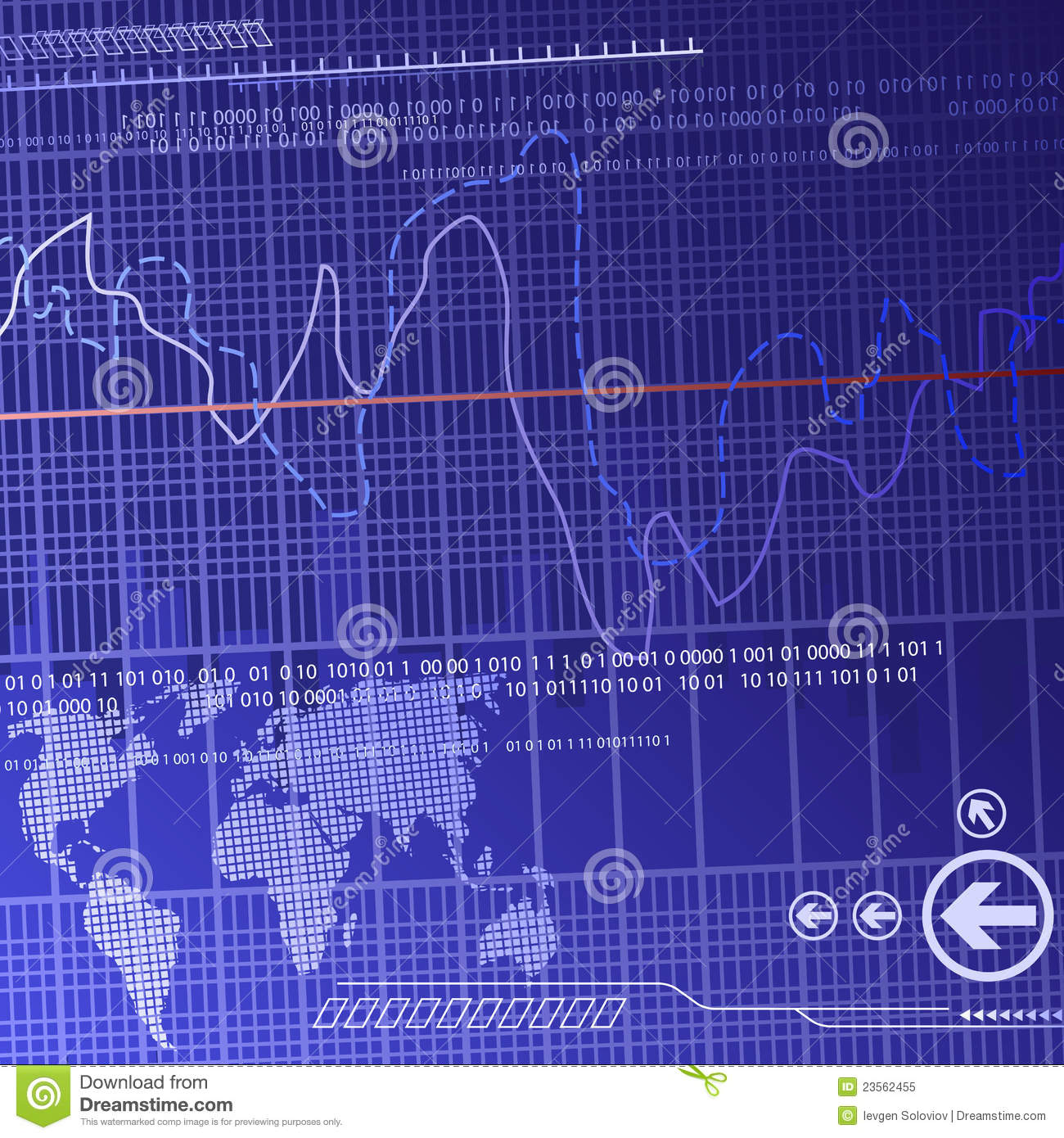 Finance Background: Didital Finance Background Royalty Free Stock Photo