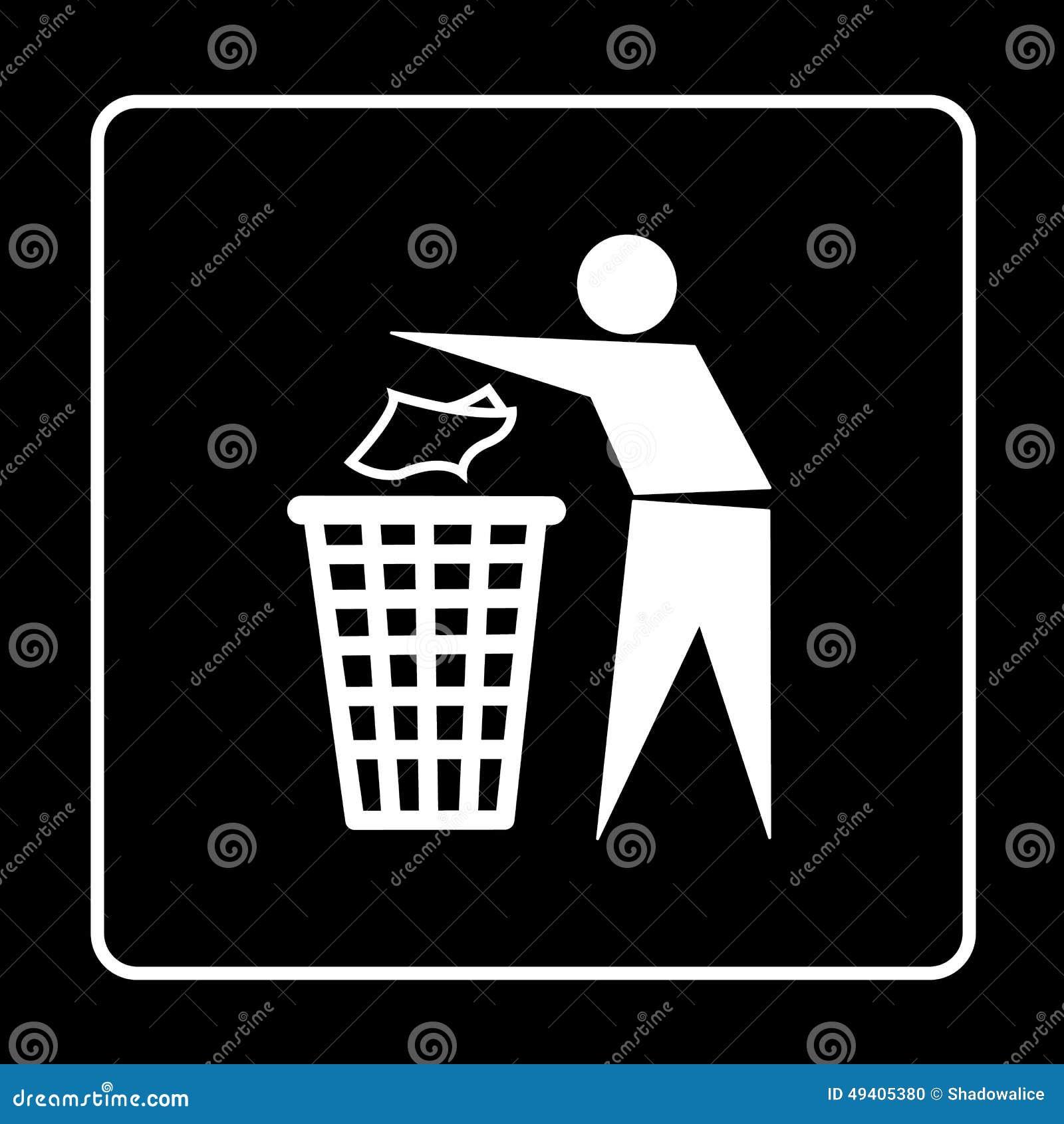 Download Die Abfalleimer- Oder Abfalleimerikone, Die Für Irgendwelche Groß Ist, Verwenden Vektor Eps10 Vektor Abbildung - Illustration von hand, wiederverwertung: 49405380