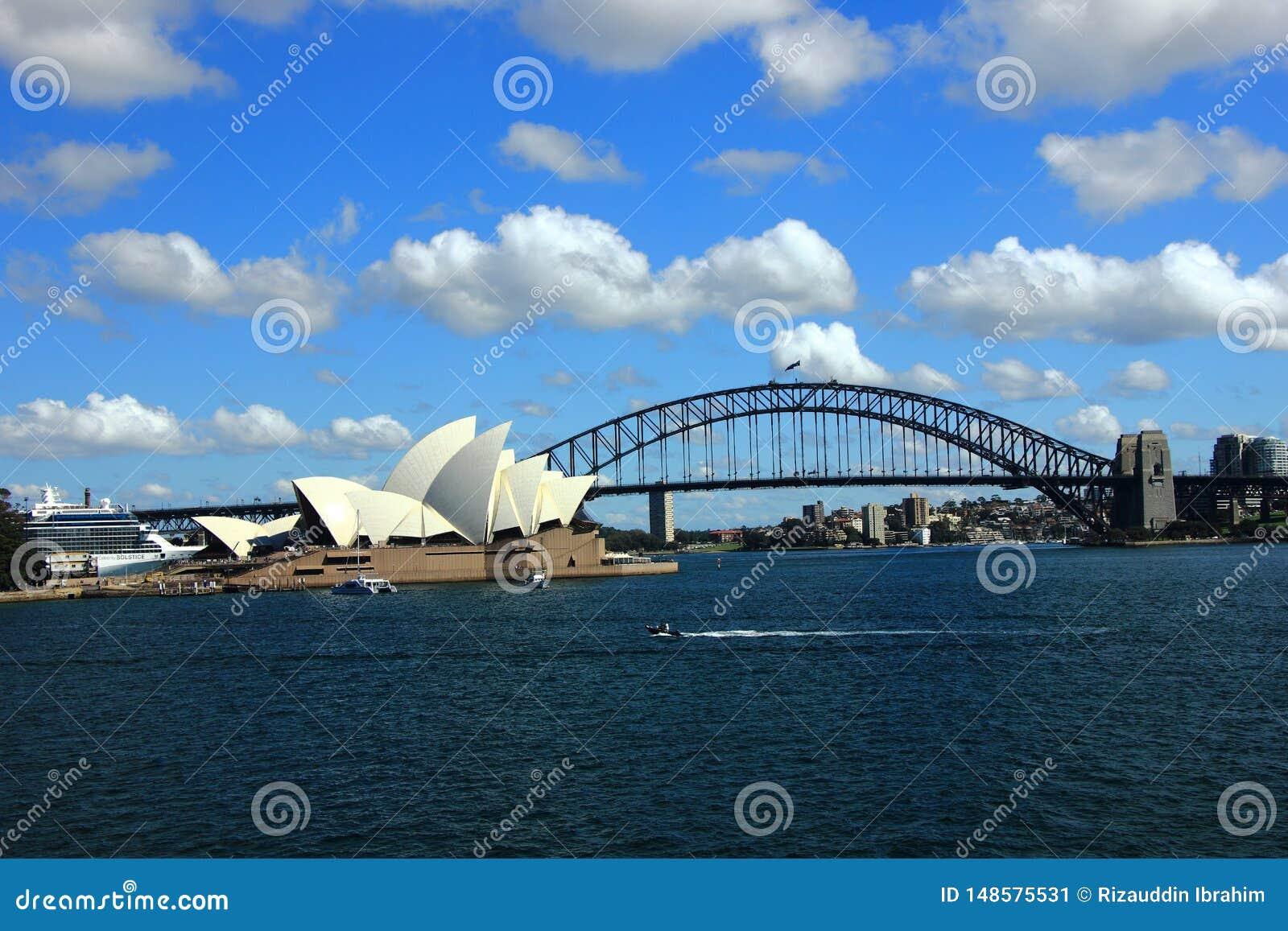 Die Ansicht von Sydney Harbor