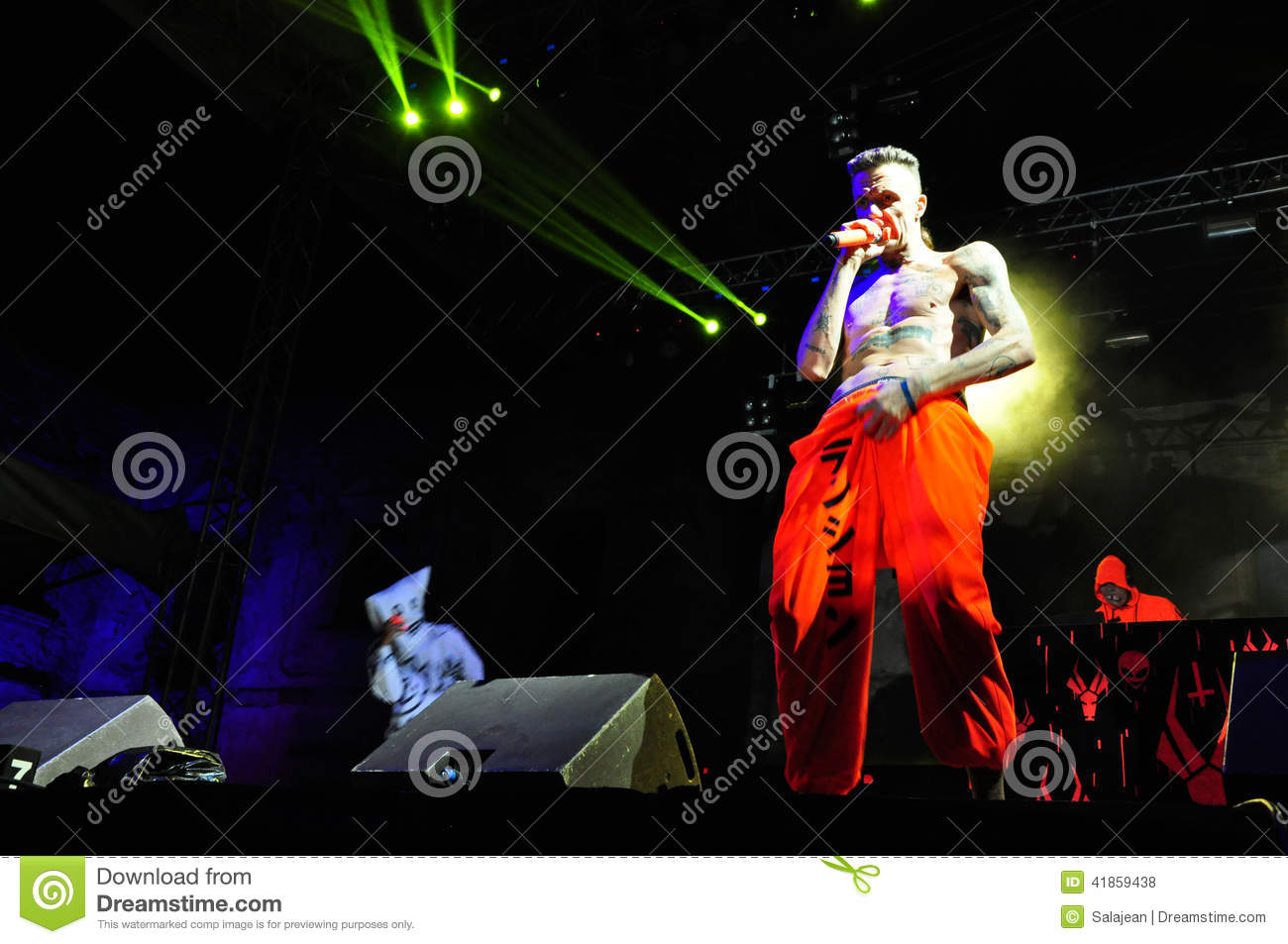 Die Antwoord performs live at Electric Castle