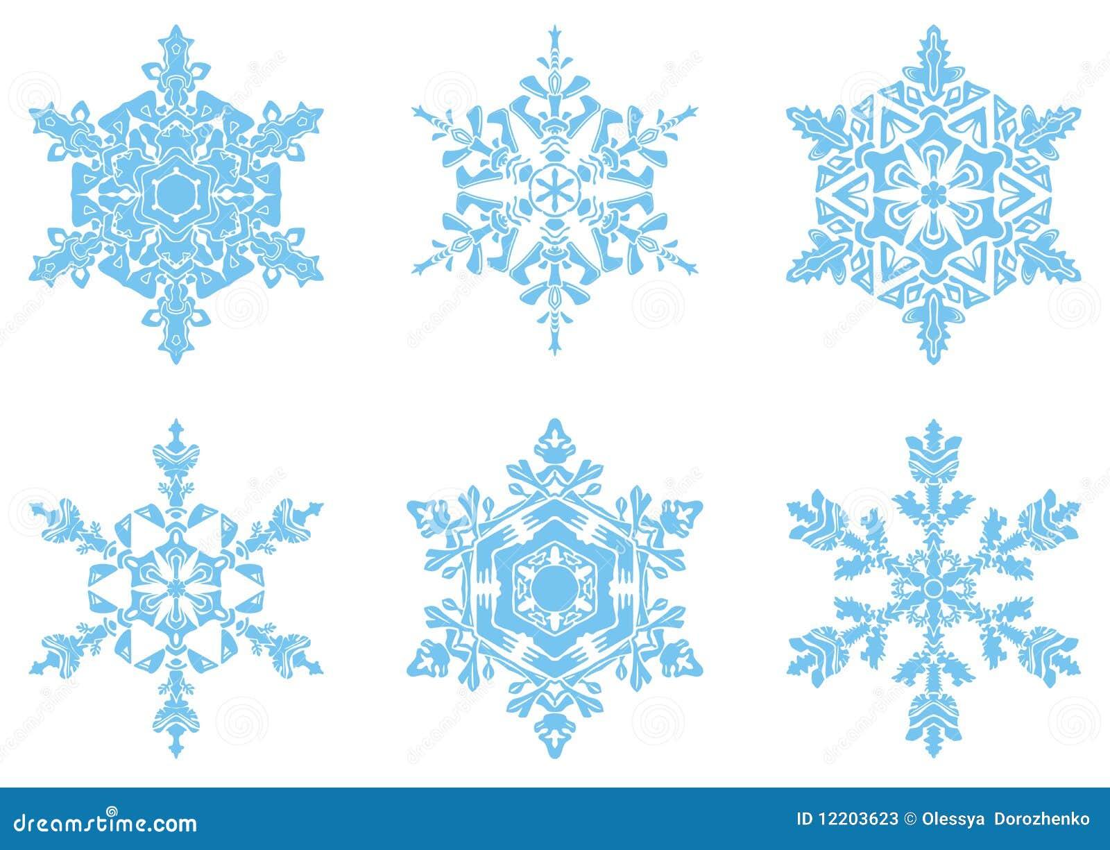 Die anwesenden Schneeflocken