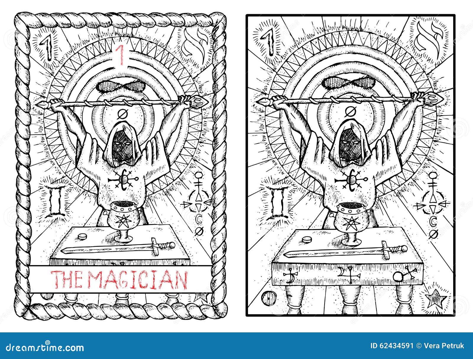Die bedeutende Arcanatarockkarte Der Magier