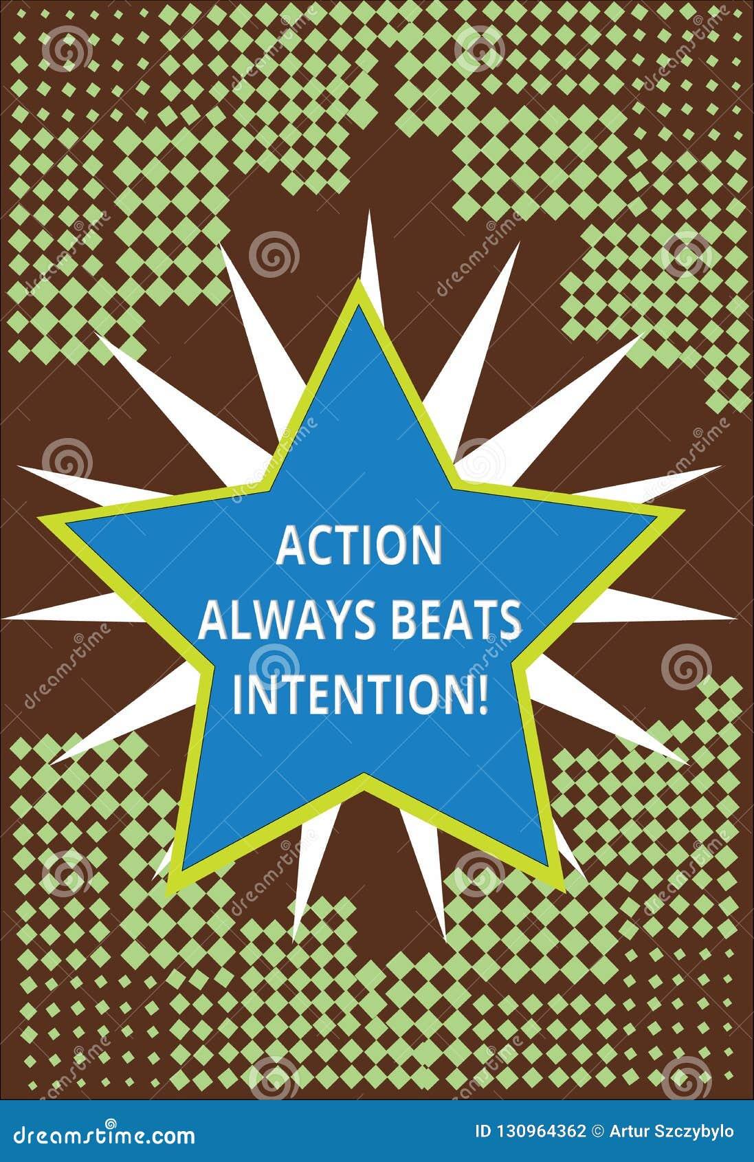 Die Begriffshandschrift, die Aktion schlägt zeigt immer, Absicht Der verwirklichte Geschäftsfototext lassen es geschehen Tat auf