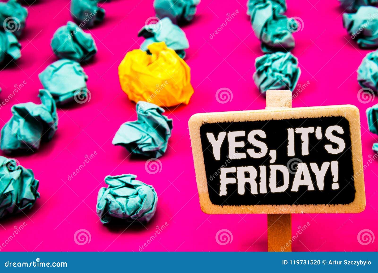 Die Begriffshandschrift, die ja darstellt, ist es Freitag-Motivanruf Geschäftsfototext, der das Wochenende Ruhepause Blackboa neh