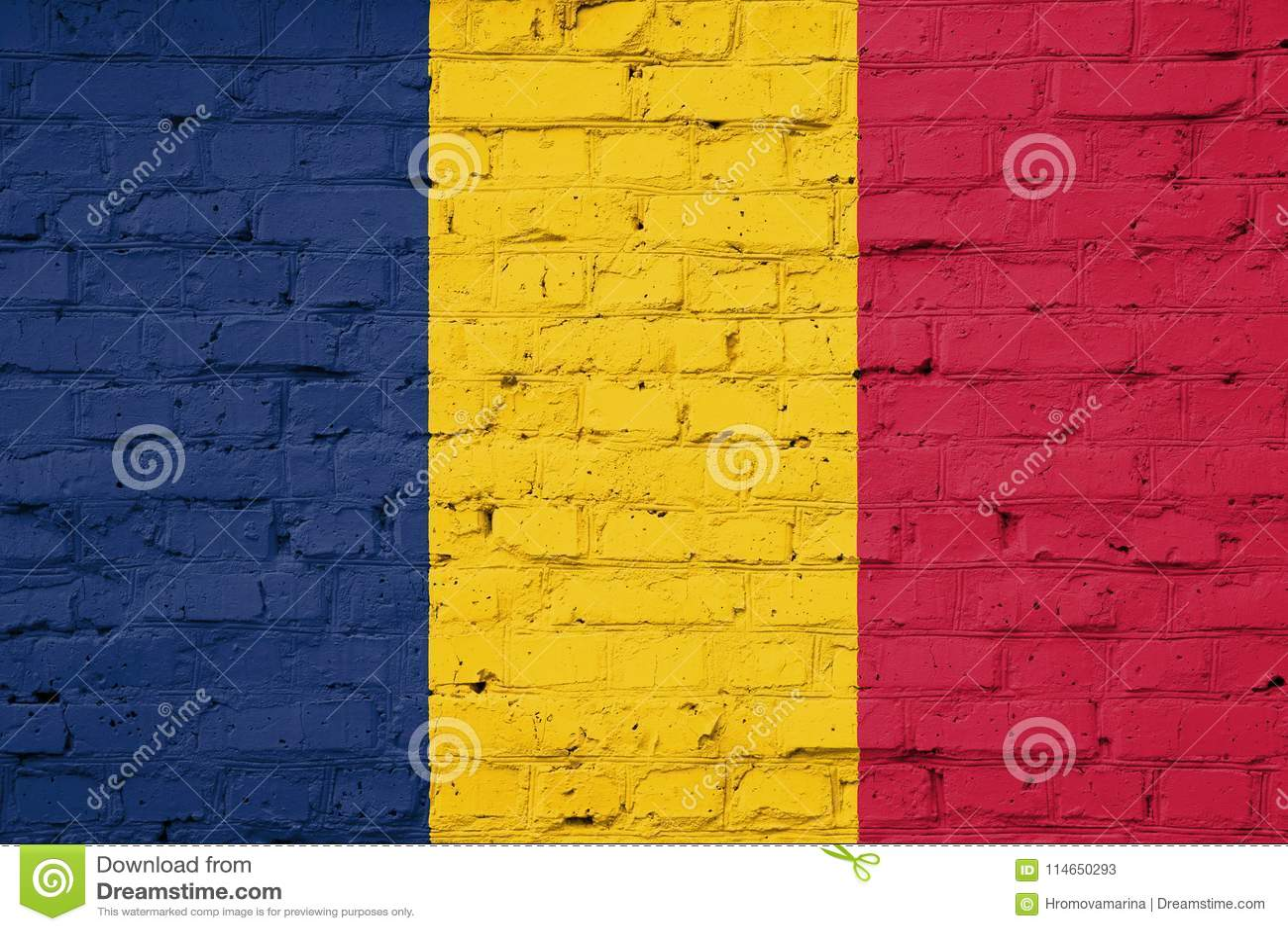 Die Beschaffenheit von Tschad-Flagge