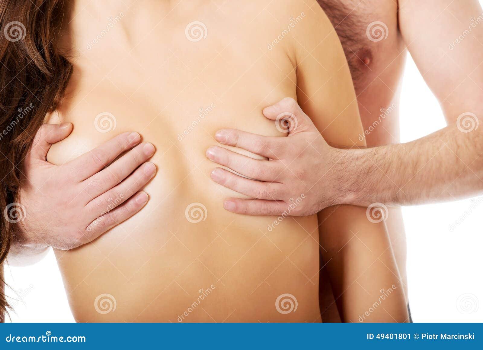 Download Die Brust Der Rührenden Frau Des Mannes Stockbild - Bild von liebe, frau: 49401801