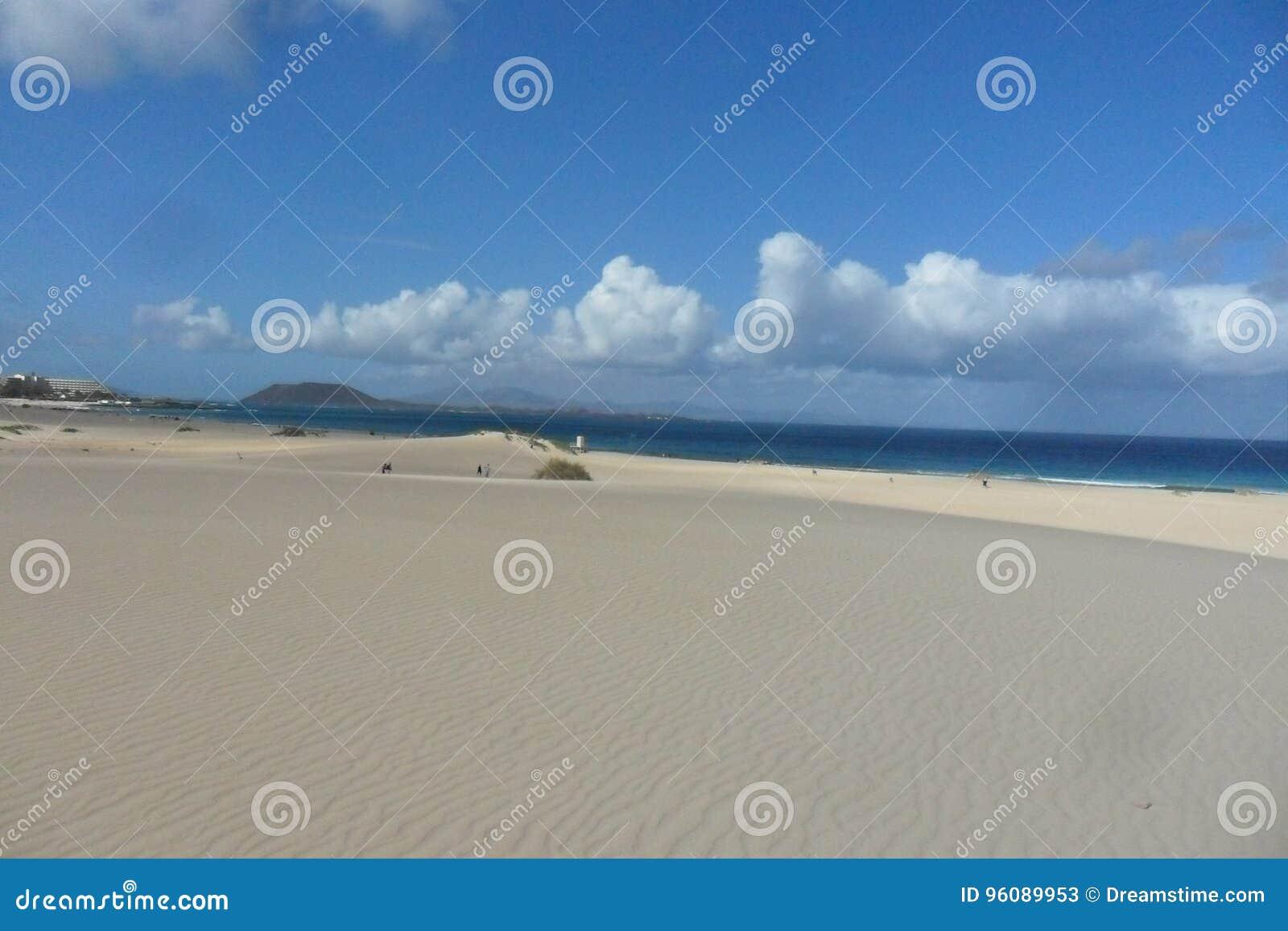 Die Dünen von Corralejo in Fuerteventura-Insel in den Kanarischen Inseln