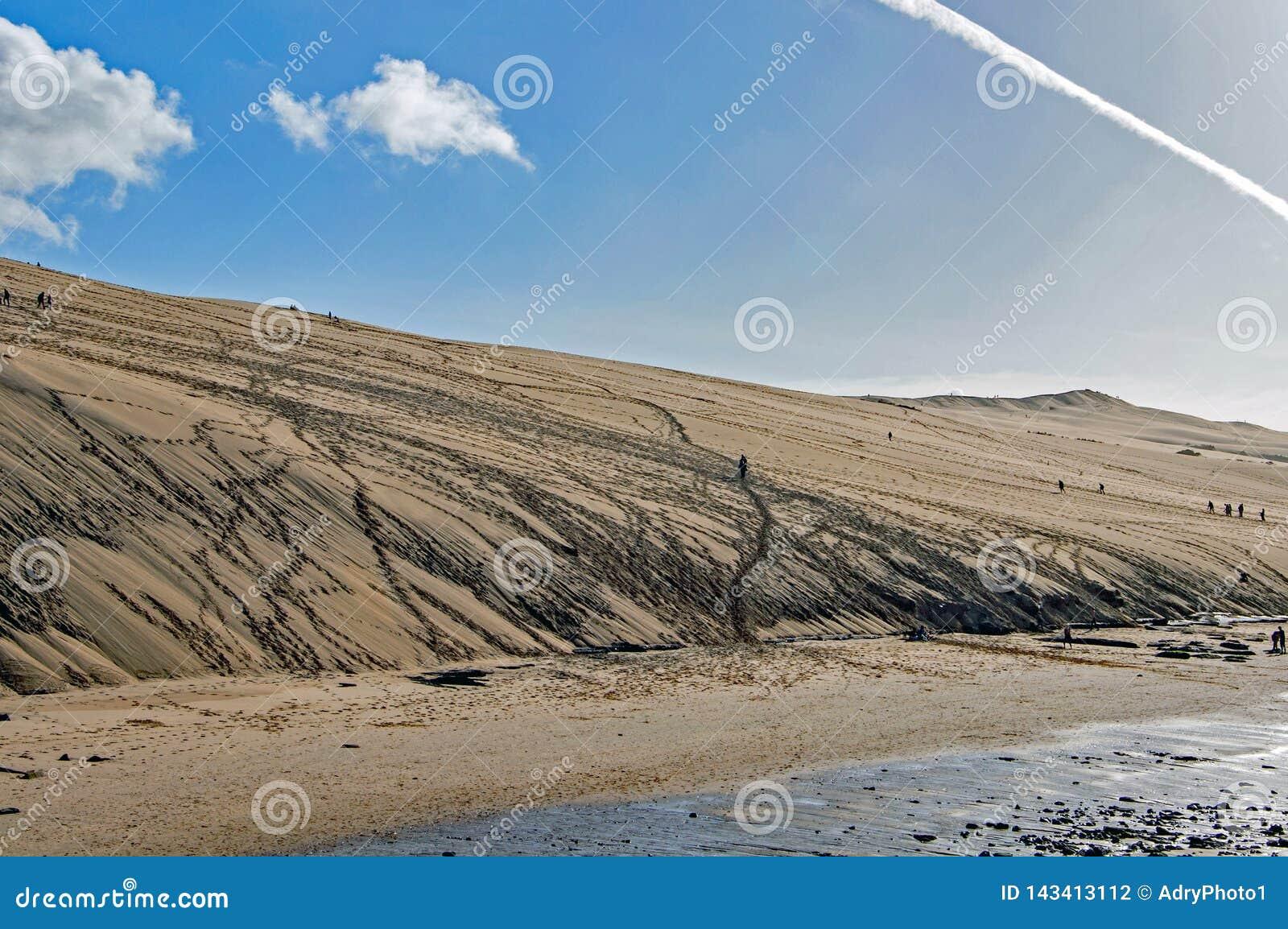 Die Dünen von Pilat in Frankreich, das höchste in Europa, Frankreich