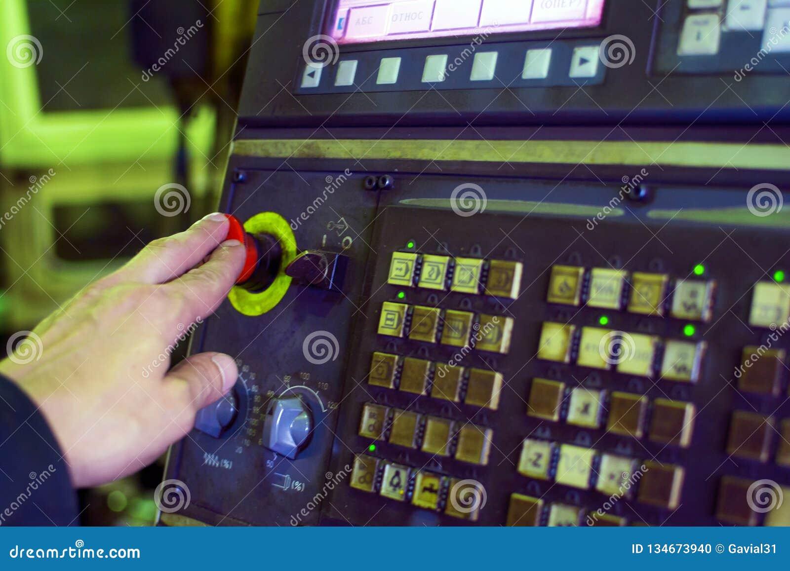 Die Einheit der Dateneingabe für Werkzeugmaschinen mit digitalem Management Weicher Fokus
