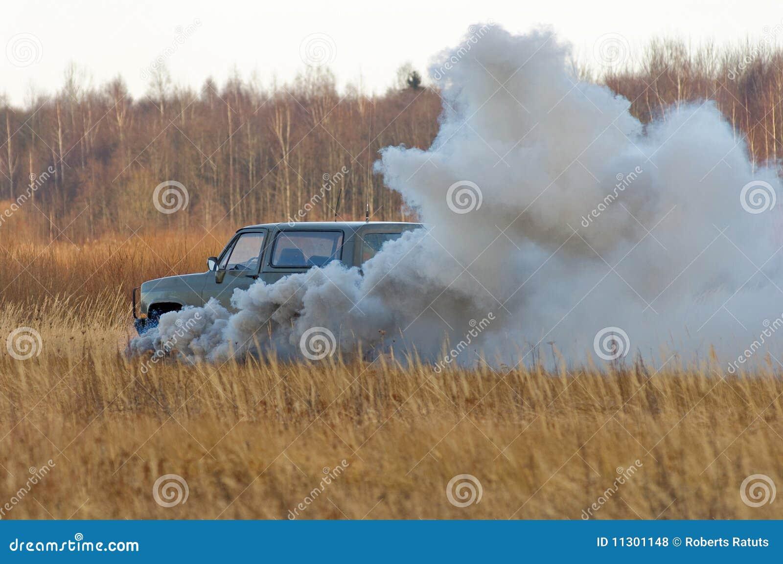 Die Explosion von Auto 1.