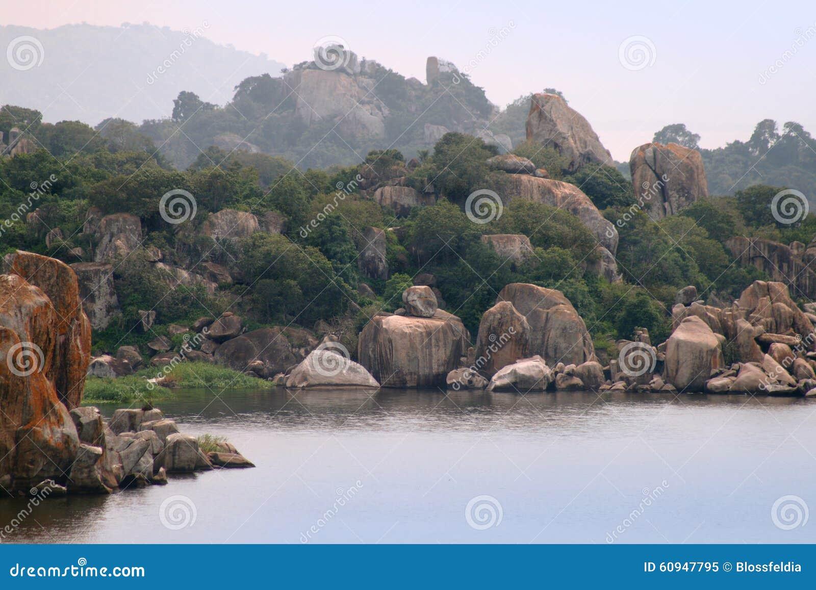 Die Felsen auf Victoria See nahe Mwanza-Stadt, Tansania