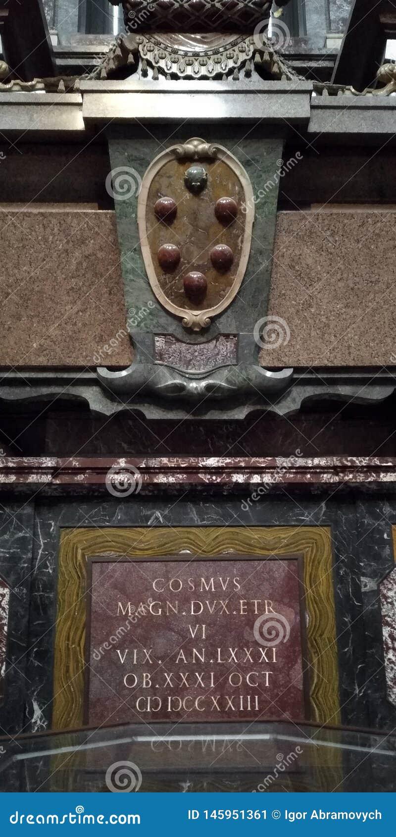 Die Finanzanzeige von Duke Cosimo IV Medici, Florenz