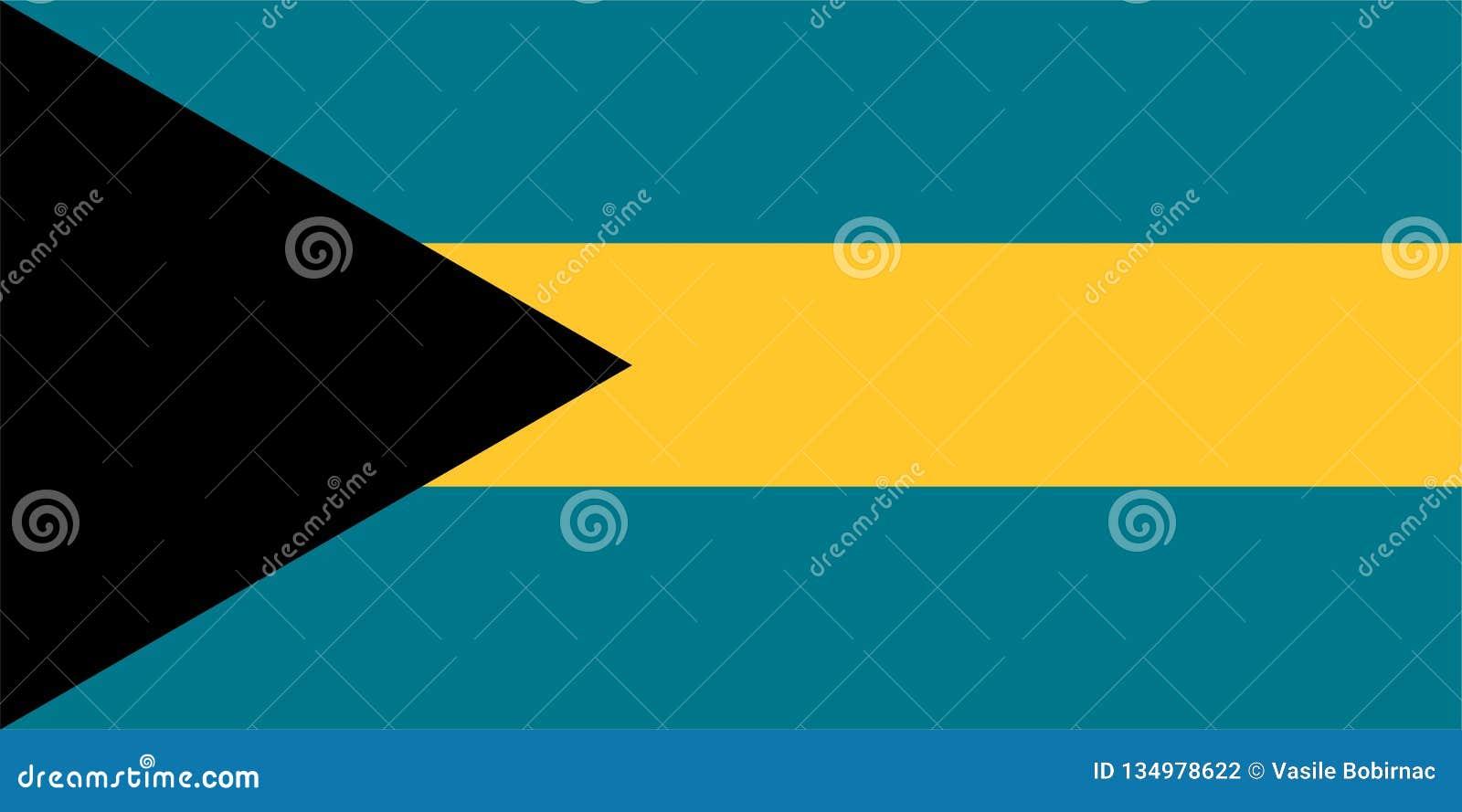 Die Flagge von Bahamas
