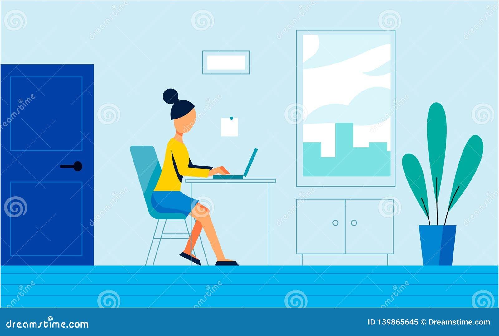 Die Frauenarbeit im Büro Kunstillustration