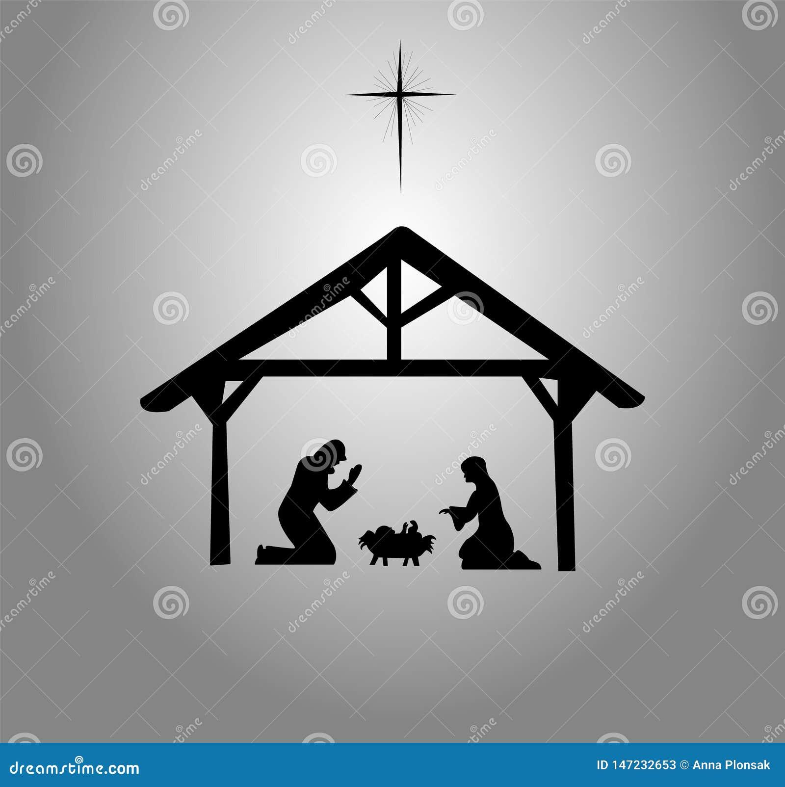 Die Geburt Christi von Jesus Christ Bethlehem-Stern