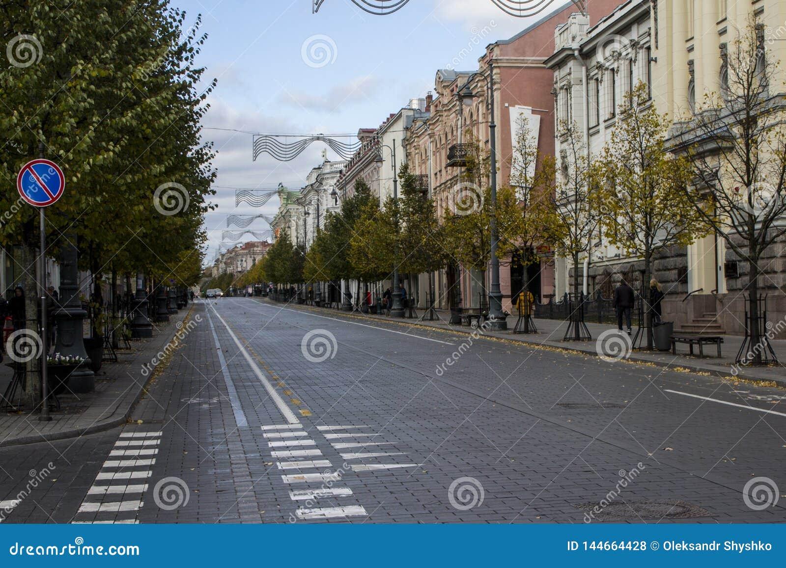 Die Gediminas-Allee in Vilnius litauen