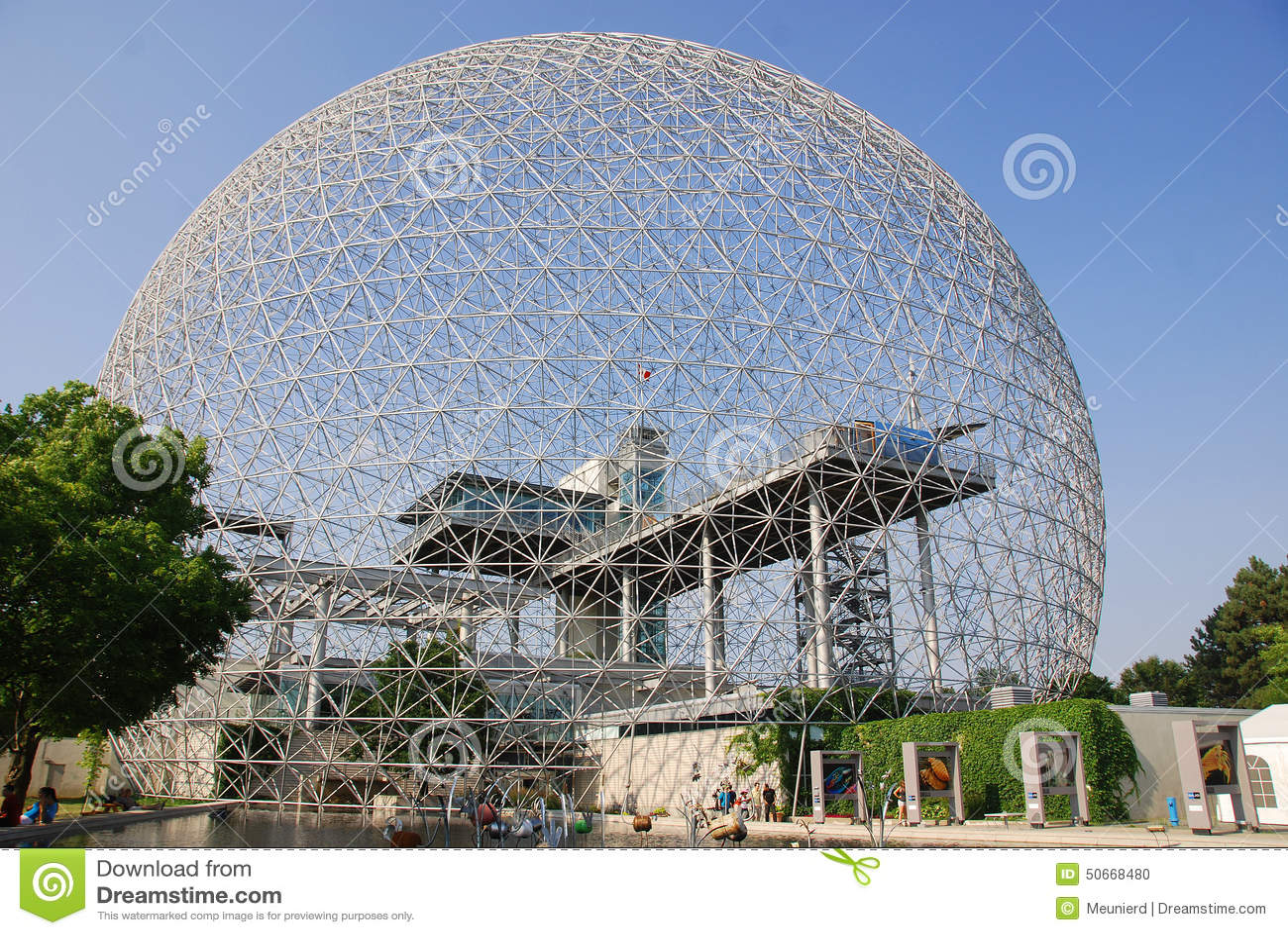 Geodätische Kuppel die geodätische kuppel redaktionelles bild bild biosphäre