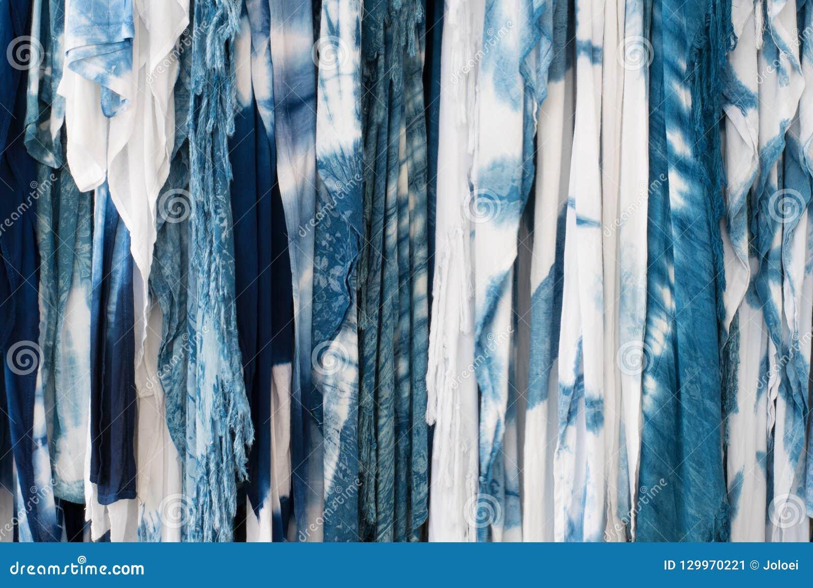 Die Gewebeindigo-Bindungsfärbung als Hintergrund