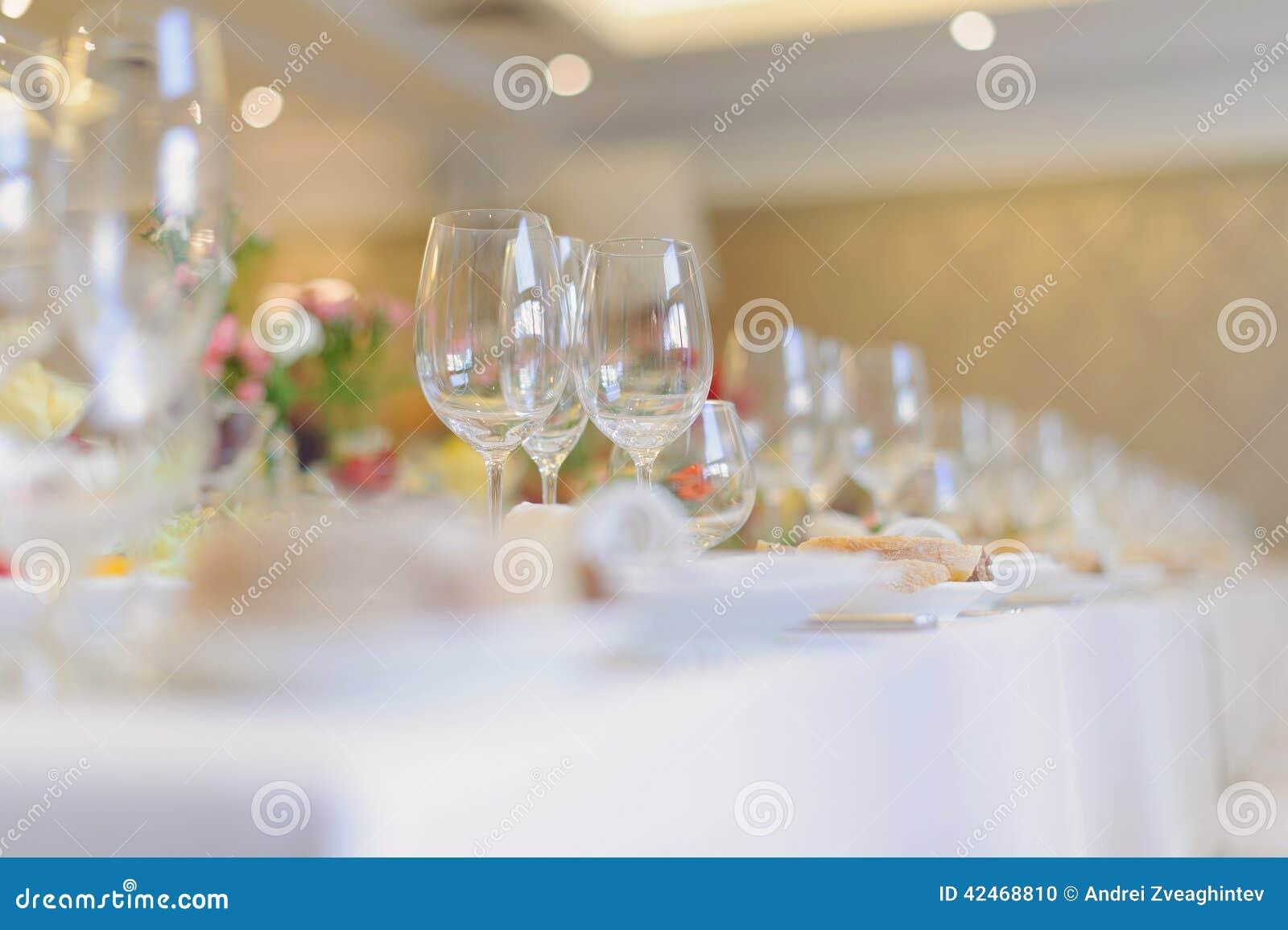 Die Gläser des Restaurants