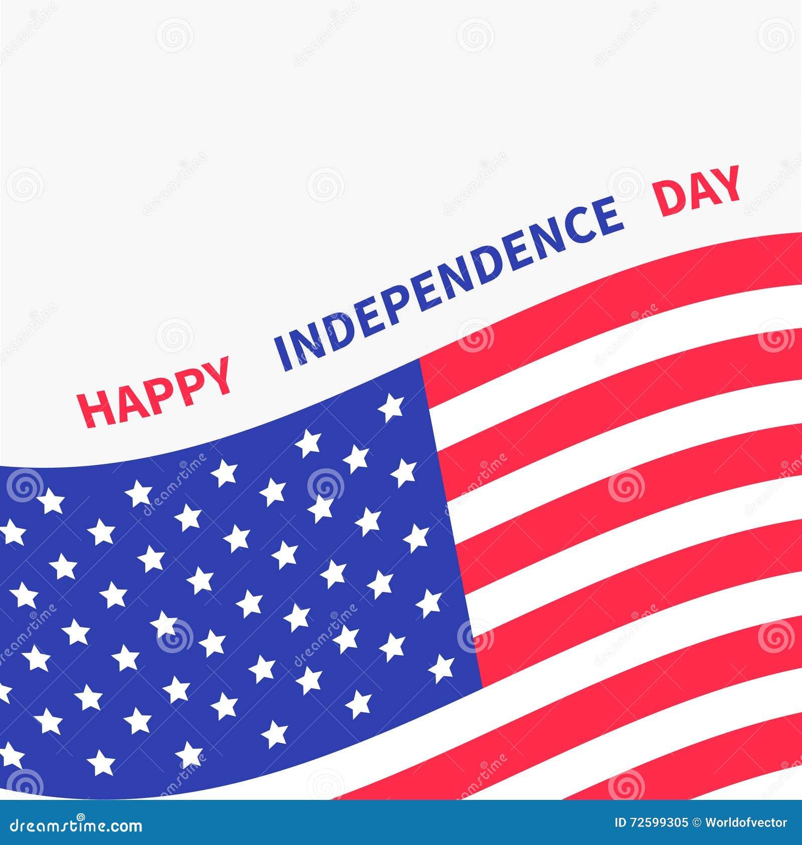 Die Glücklichen Unabhängigkeitstag Vereinigten Staaten Von Amerika ...