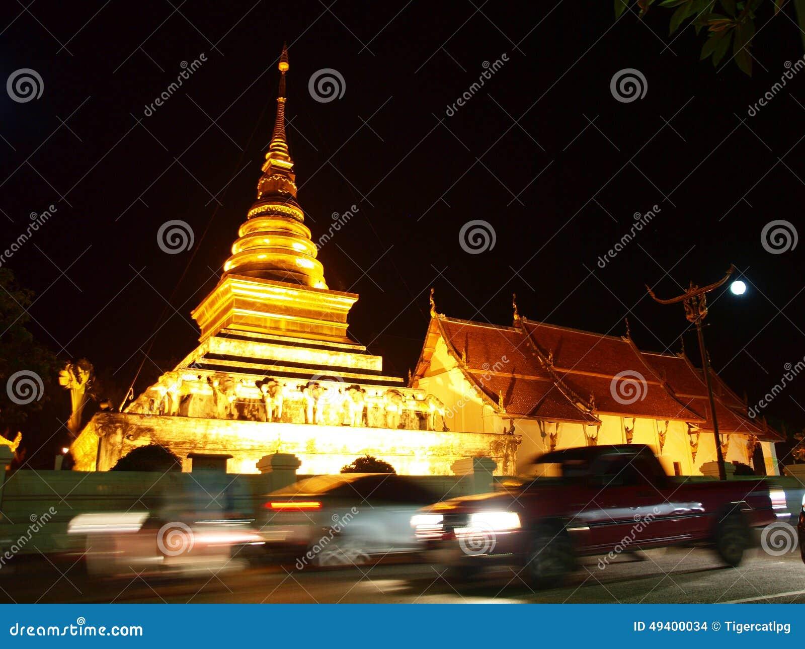 Download Die Goldpagode In Nan-Stadt Stockfoto - Bild von architektur, fromm: 49400034