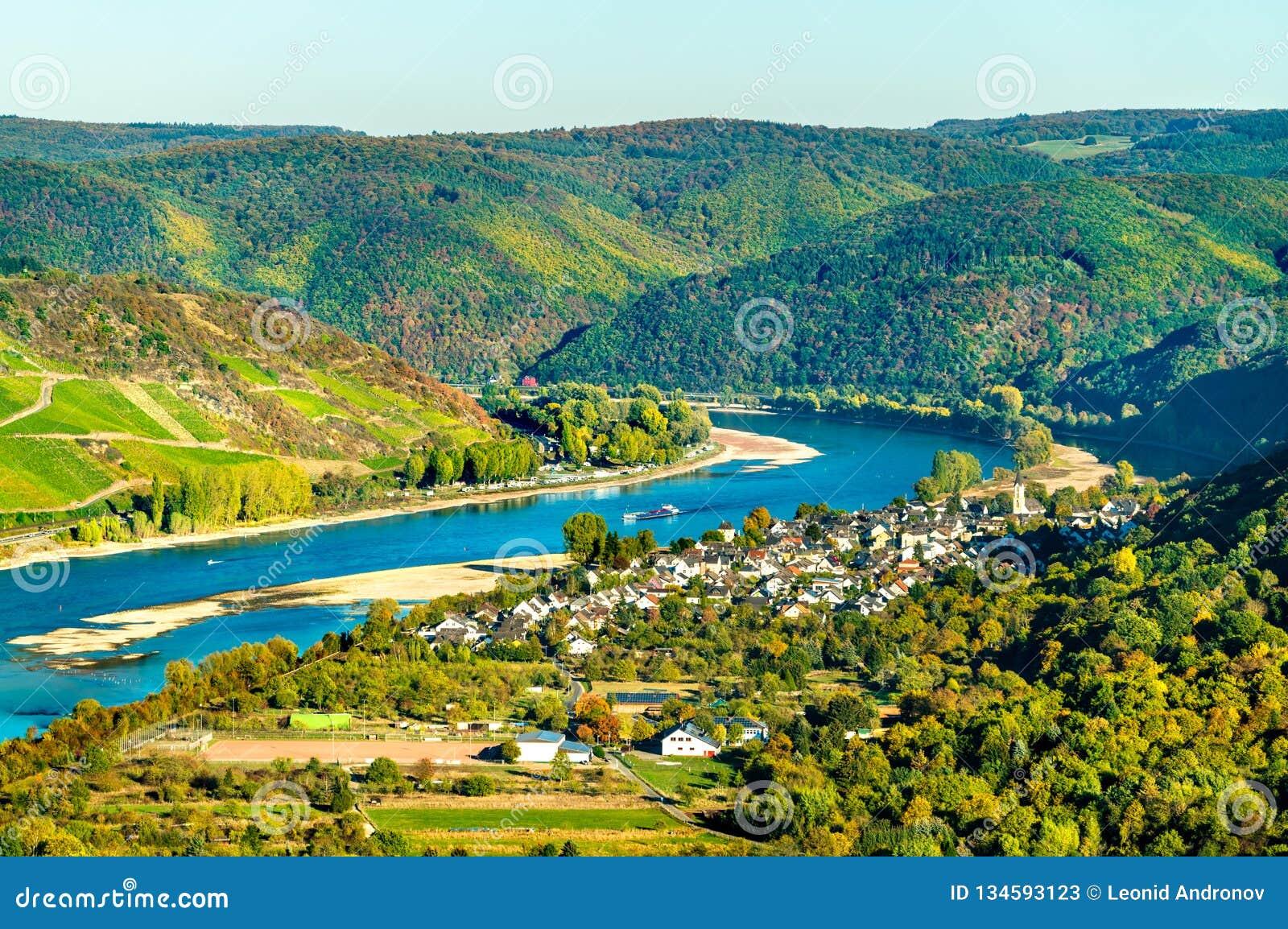 Die große Schleife des Rheins bei Boppard in Deutschland