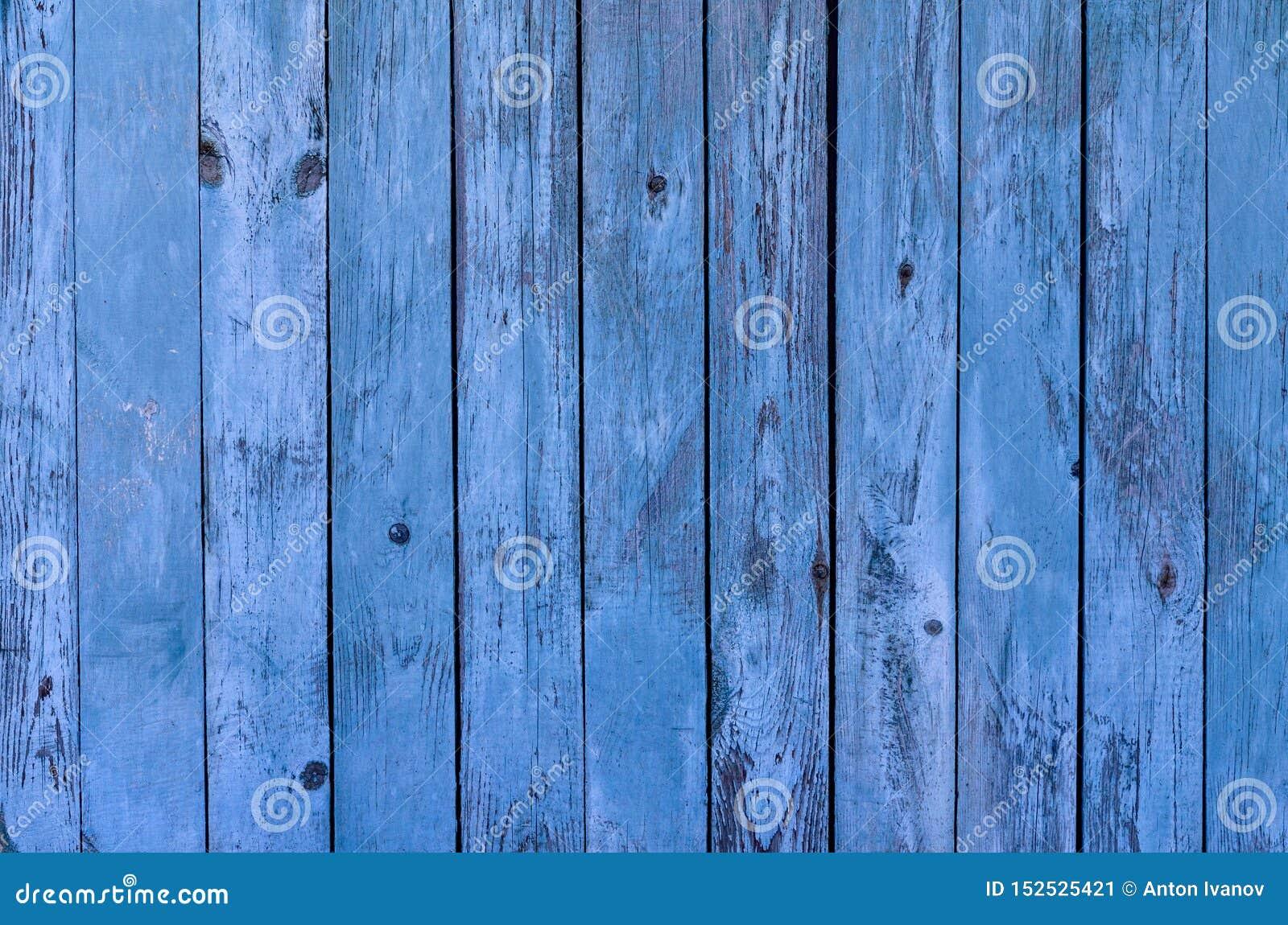 Die hölzerne Hintergrundbeschaffenheit des blauen rustikalen Brettes