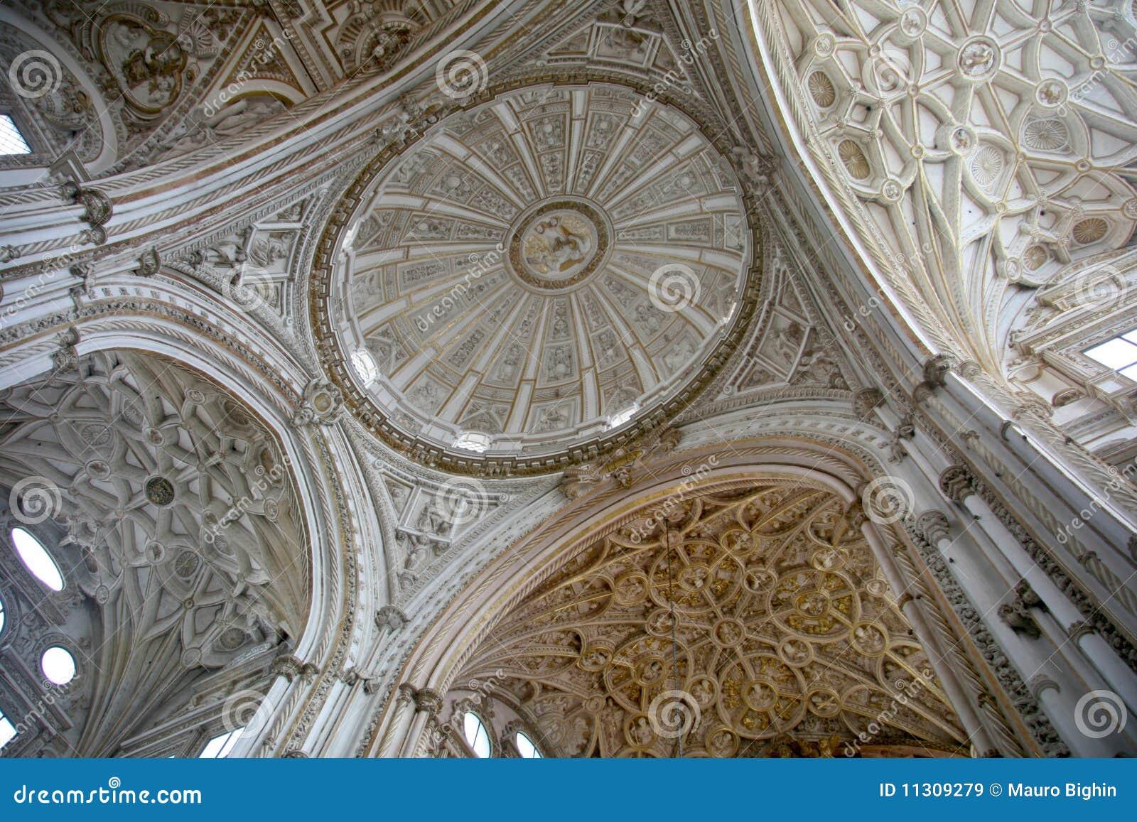 Die Hauptkapellenhaube an der Cordoba-Kathedrale