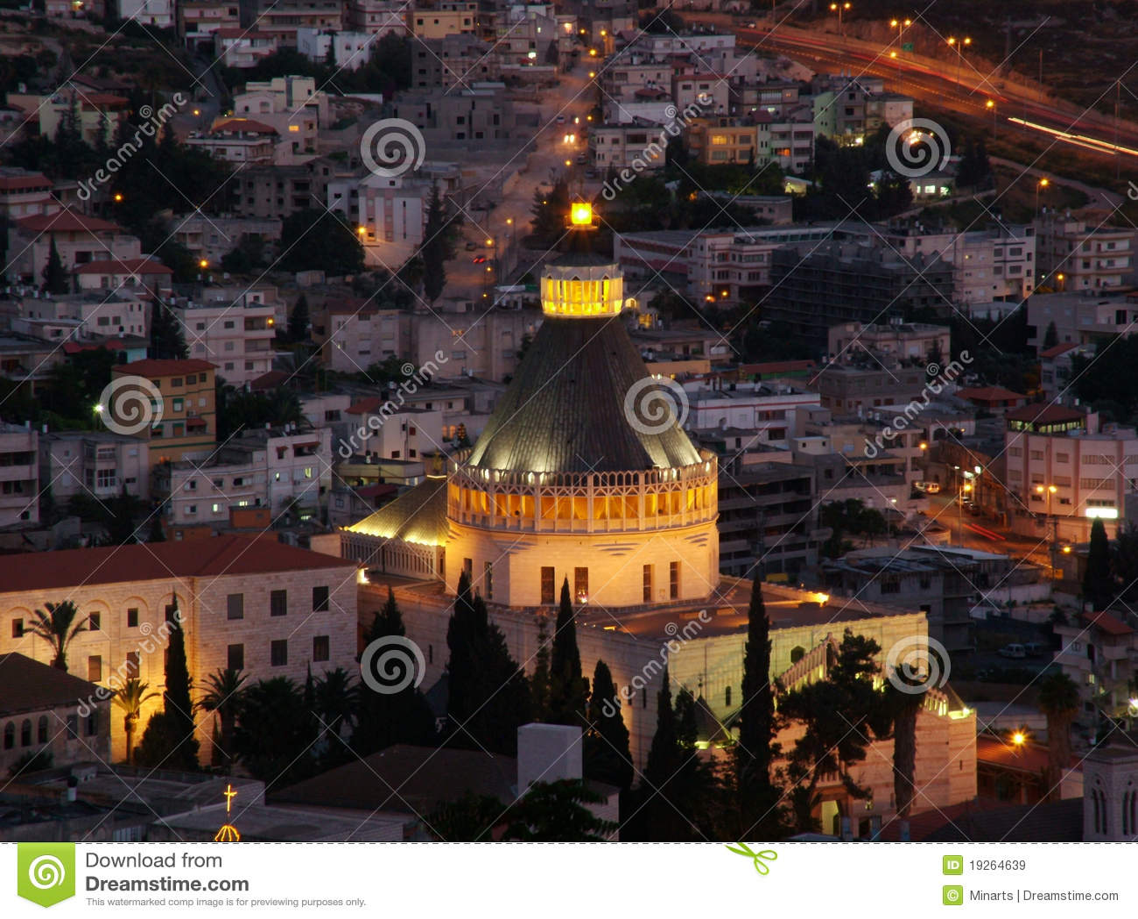 Die heilige Stadt von Nazareth in untererem Galiläa, Israel