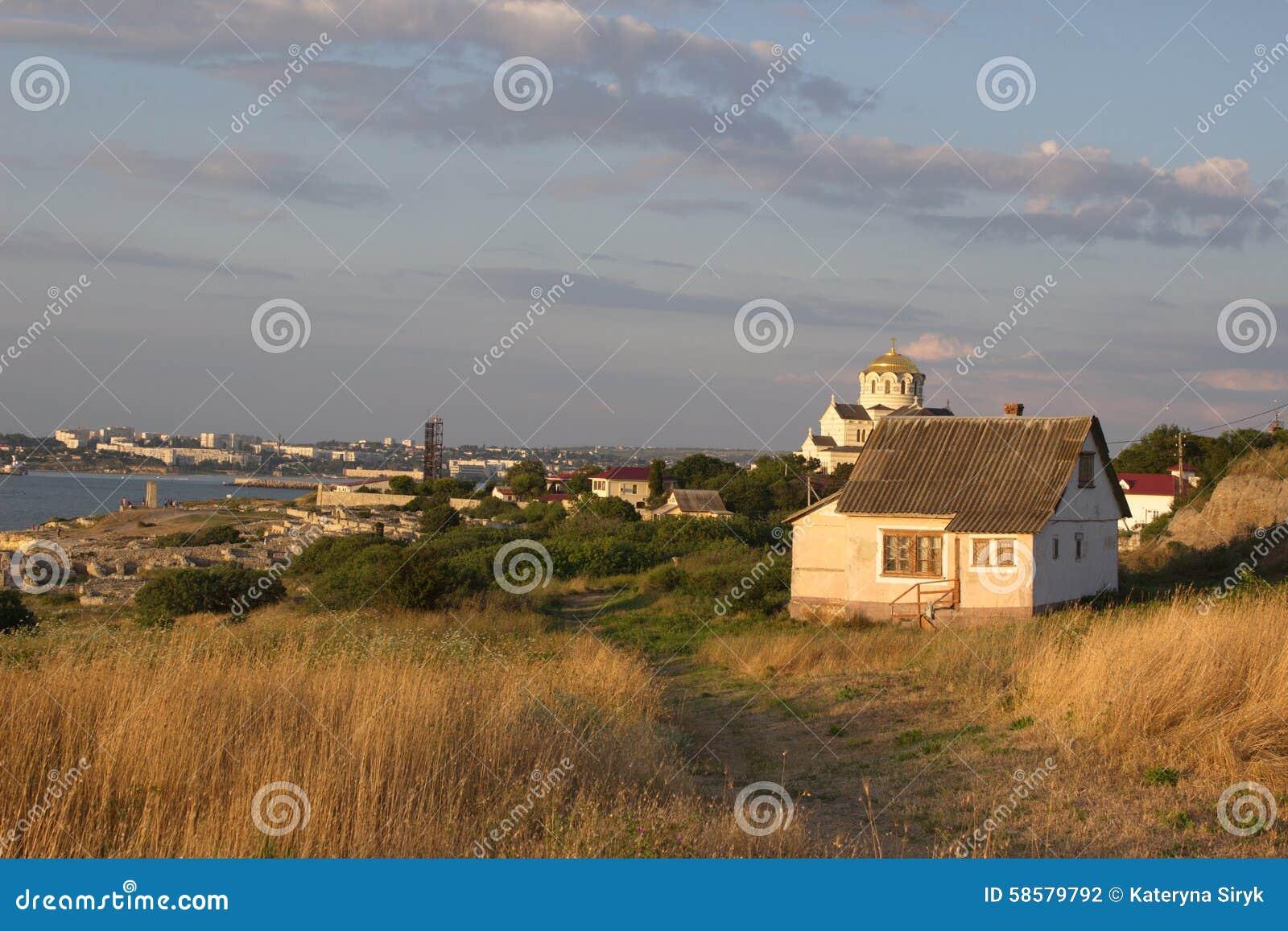 Die Küste von Sewastopol-Stadt