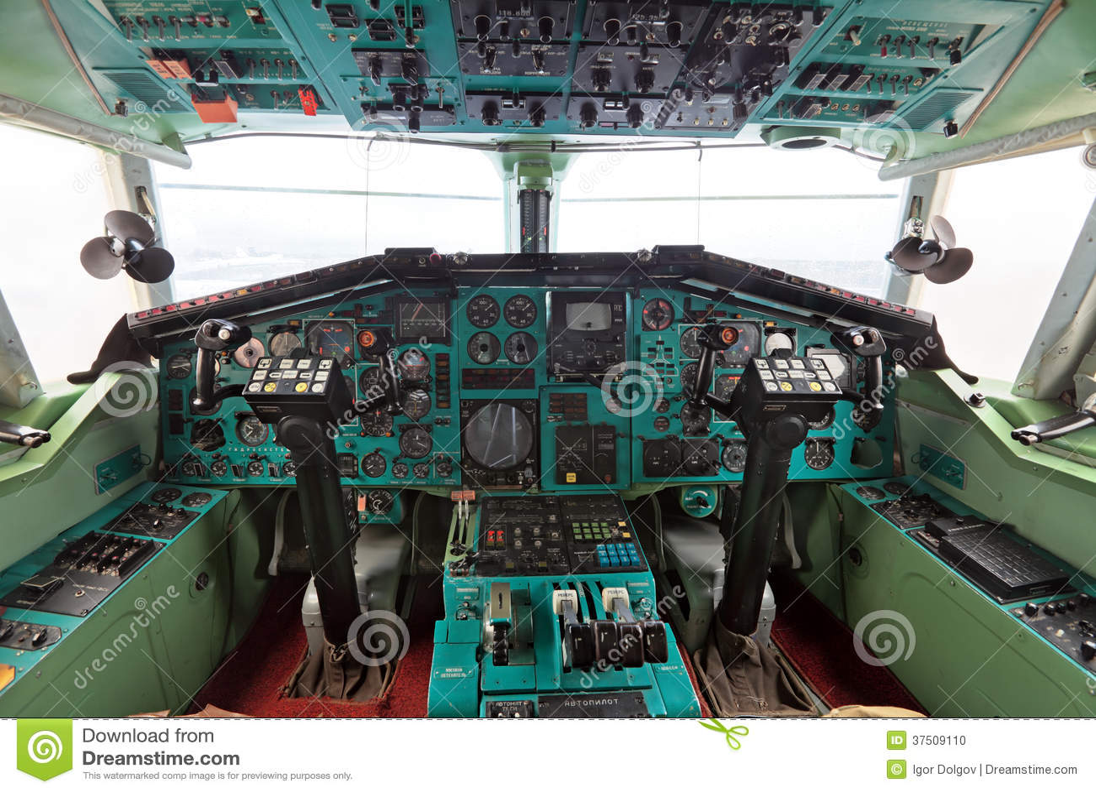 Die Kabine Tu-144