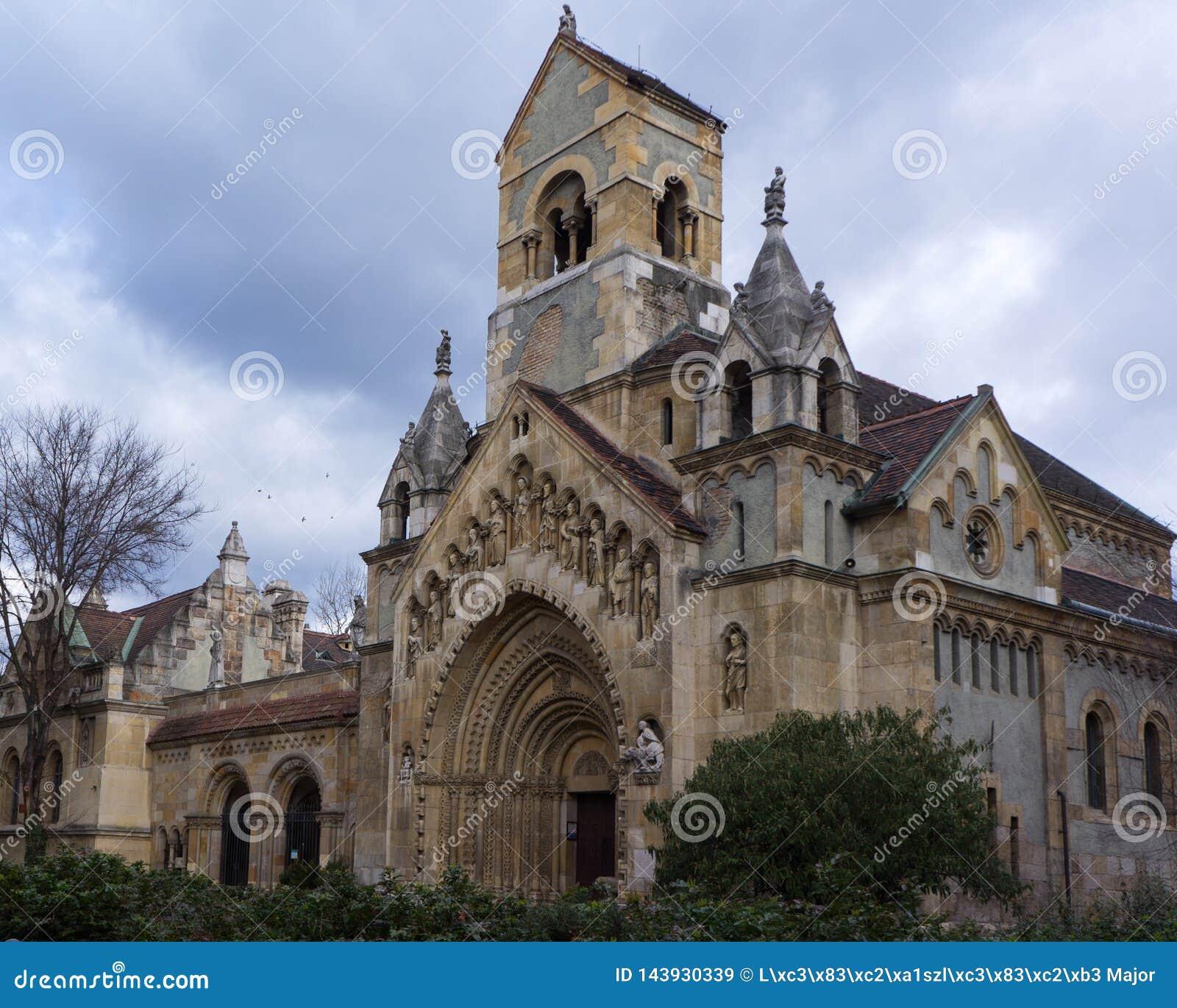 Die Kapelle von Jak - gotische Kirche in Vajdahunyad-Schloss