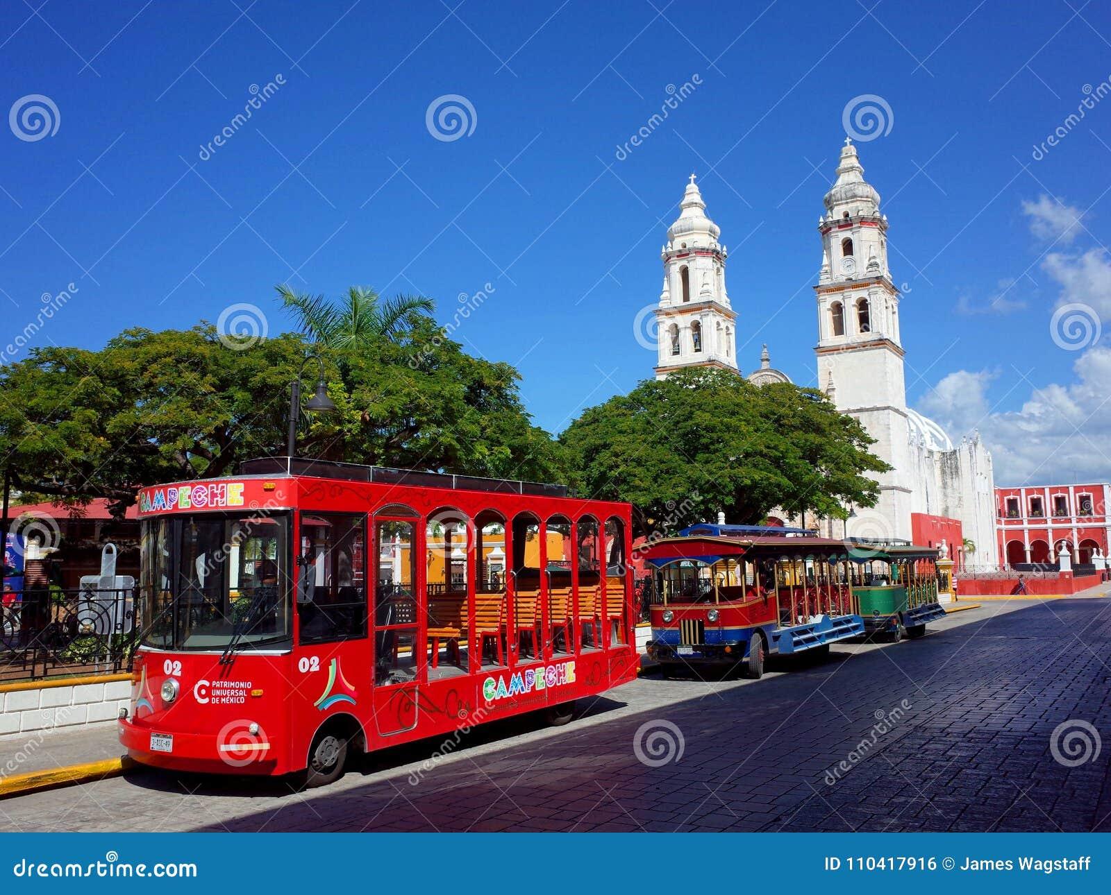 Die Kathedrale unserer Dame der reinen Konzeption in der ummauerten Stadt von Campeche