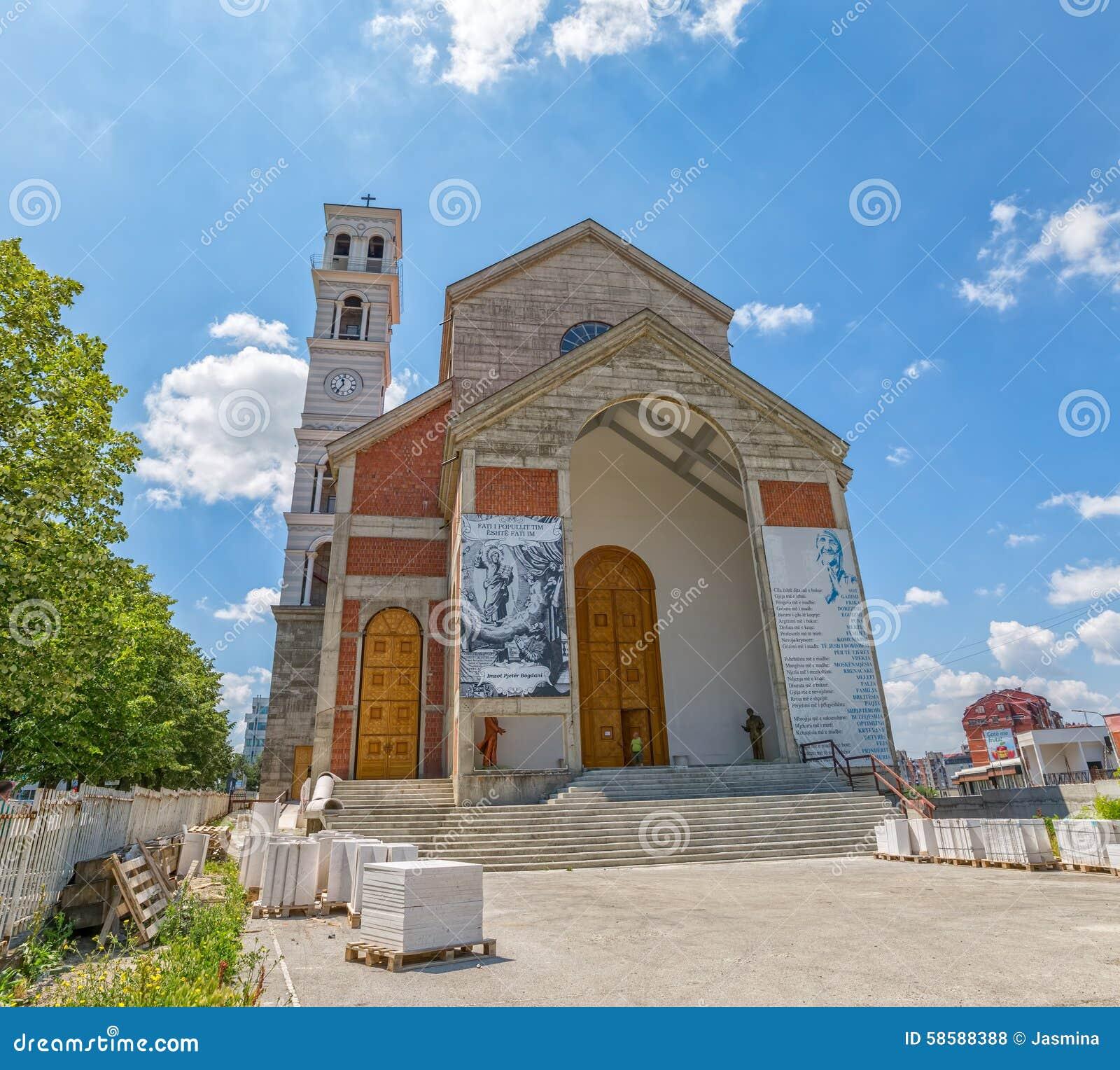 Die Kathedrale von gesegneter Mutter Teresa in Pristina