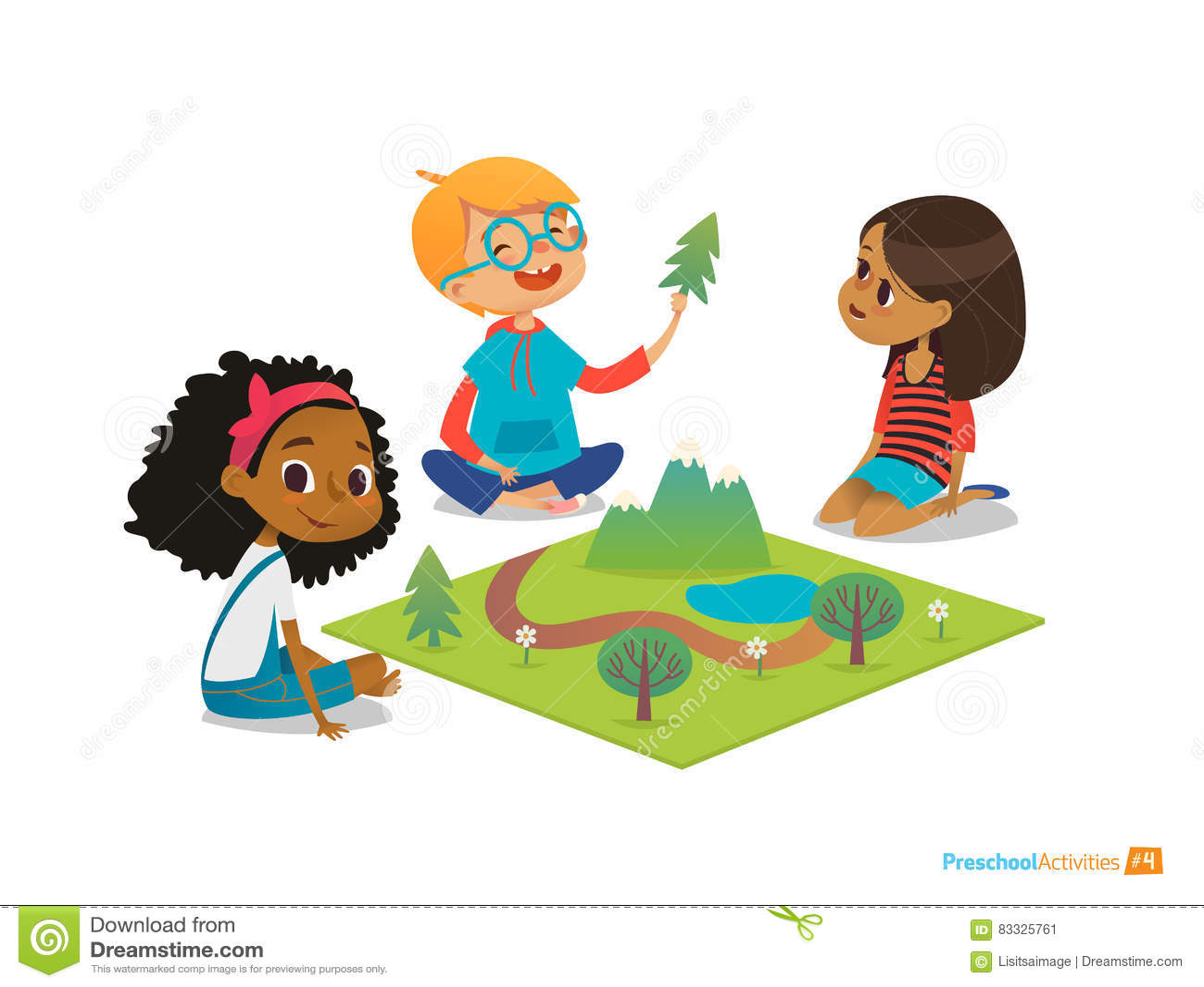 Die kinder die auf boden sitzen erforschen for Die kinder des