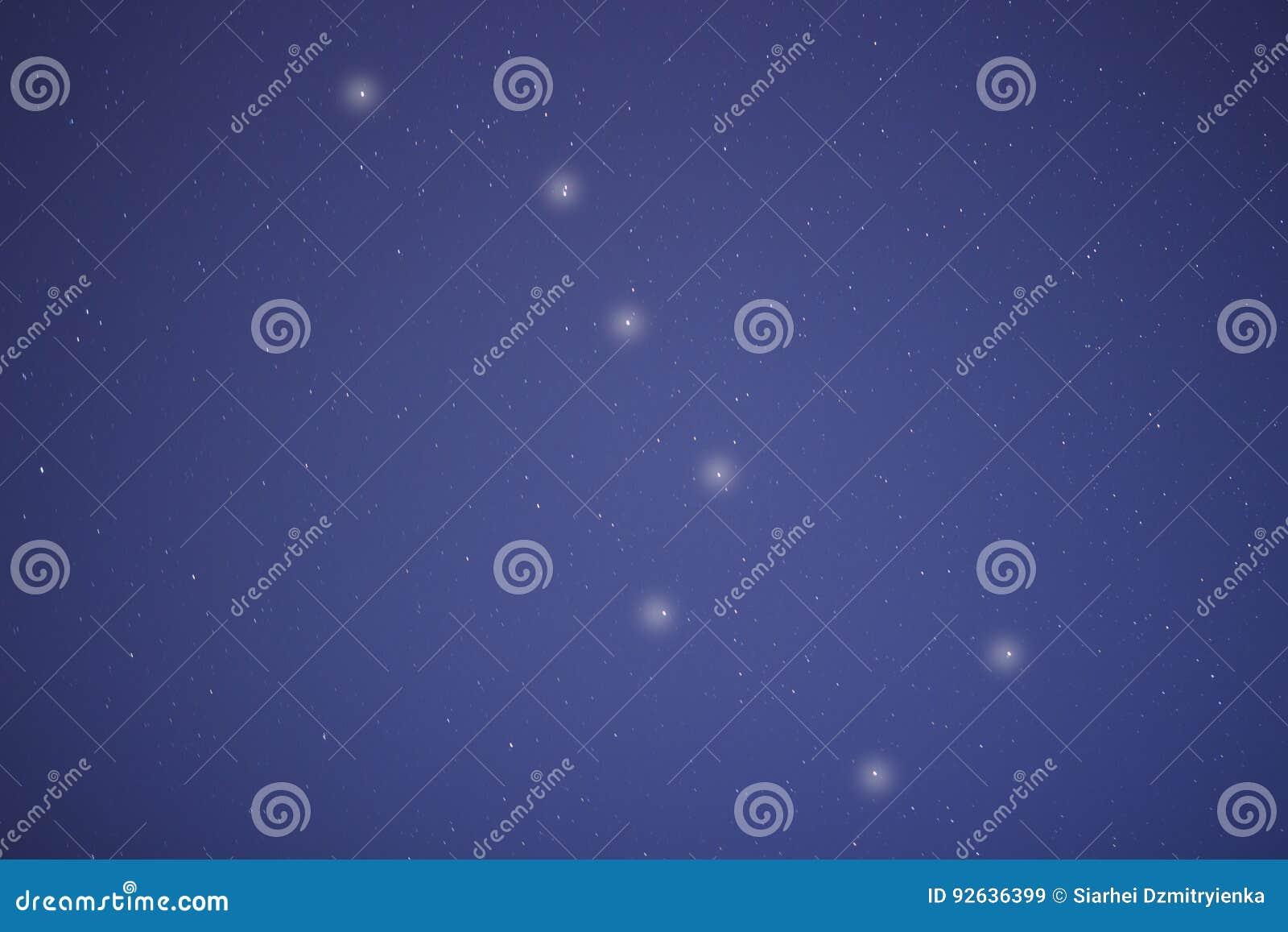 Die Konstellation von einem Big Bear im Nachtblauen Himmel