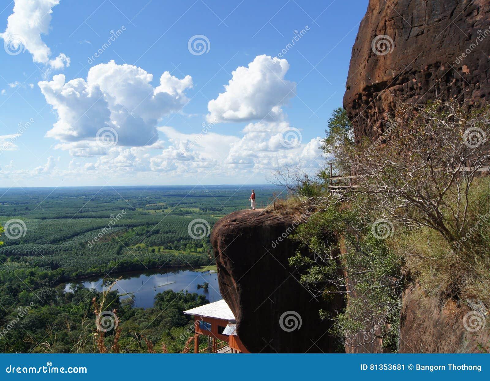 Die Landschaft auf die Oberseite der Berge