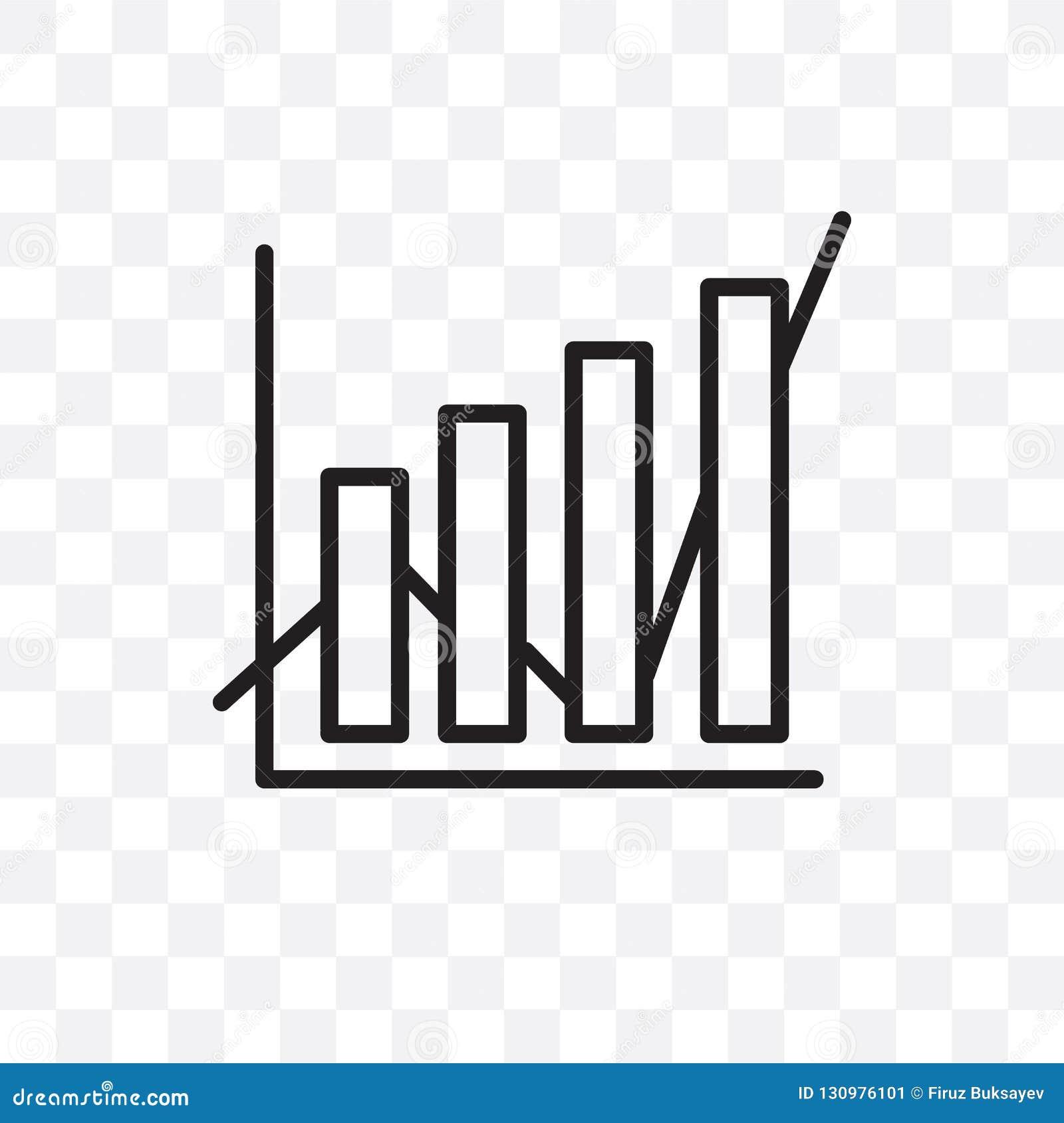 Die lineare Ikone des Daten Analytics-Vektors, die auf transparentem Hintergrund, Daten Analytics-Transparenzkonzept lokalisiert