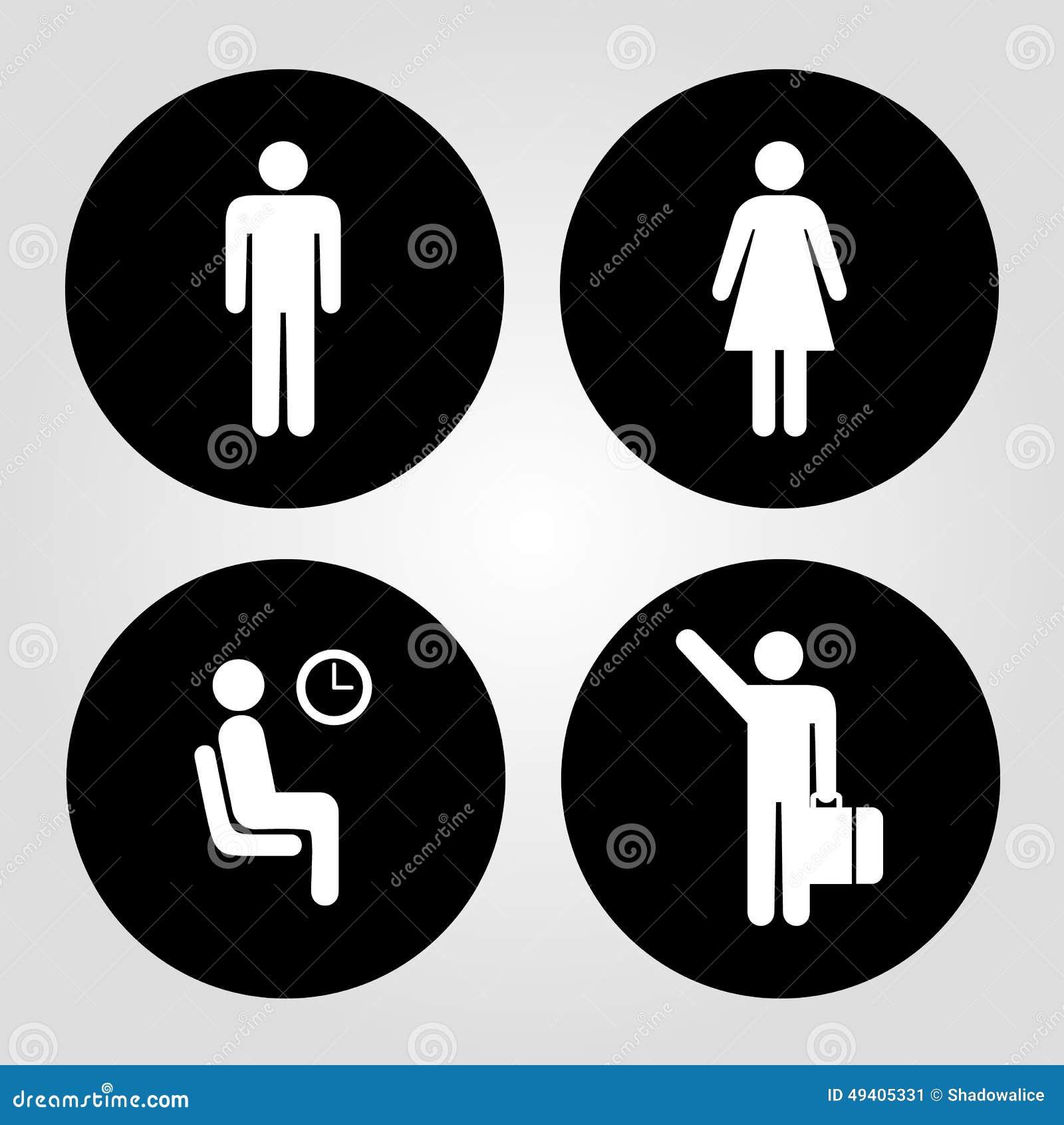 Download Die Mann- Und Frauenikone, Die Für Irgendwelche Groß Ist, Verwenden Vektor Eps10 Vektor Abbildung - Illustration von dusche, symbol: 49405331