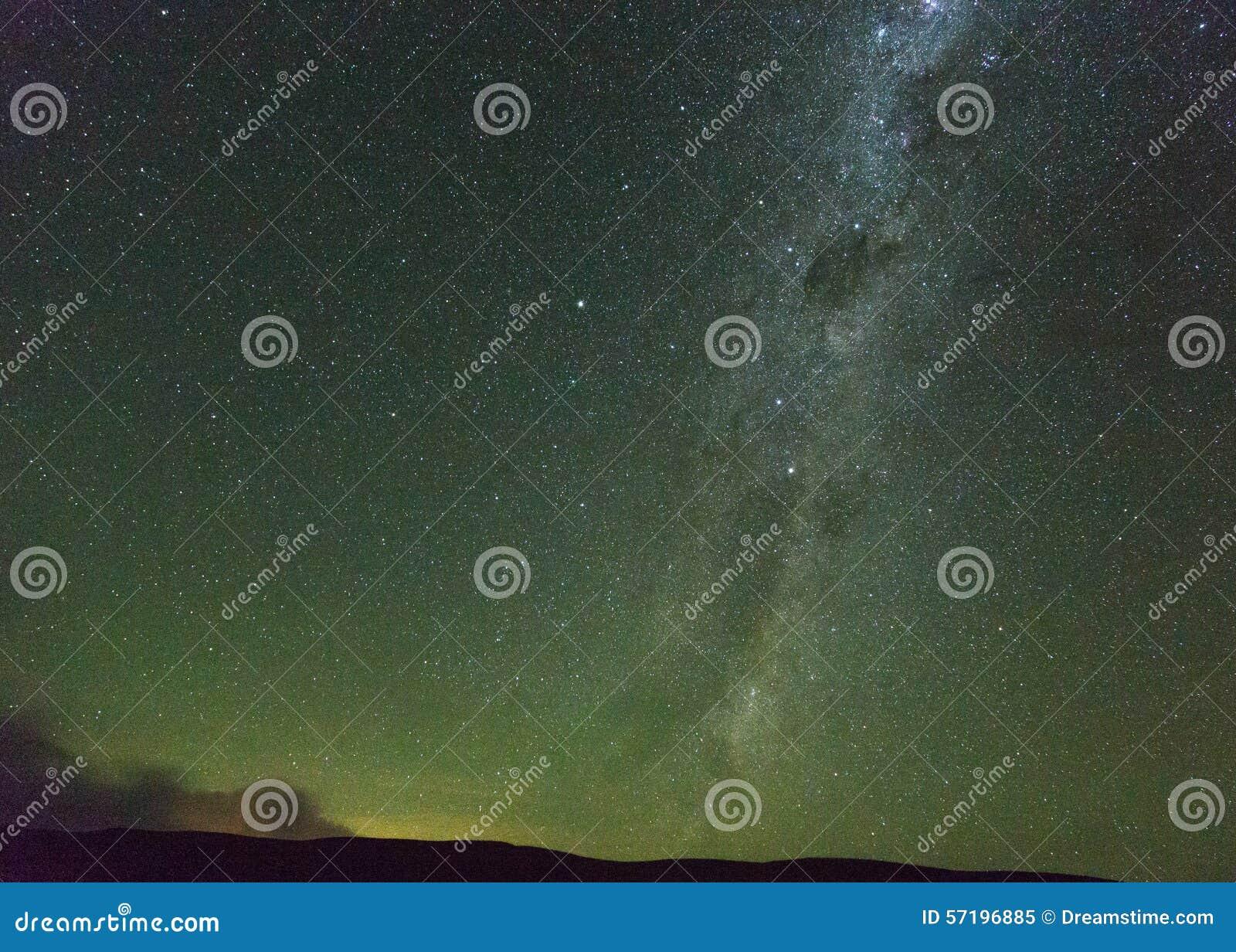 Die Milchstraße in den Drachenberge Südafrika