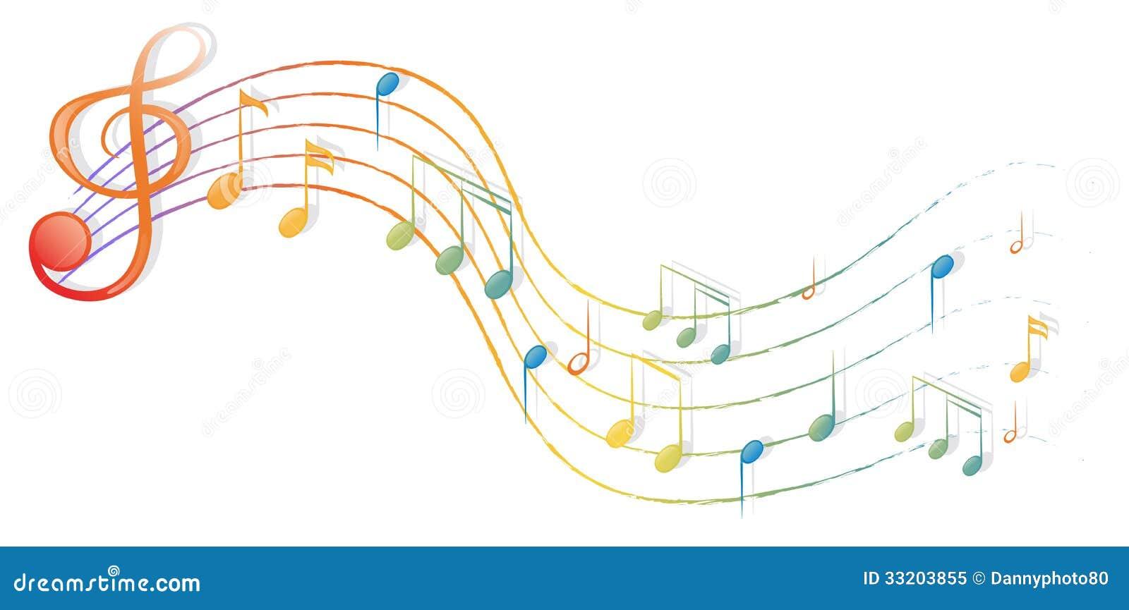 die musikalischen anmerkungen und der g notenschl ssel stock abbildung illustration von. Black Bedroom Furniture Sets. Home Design Ideas