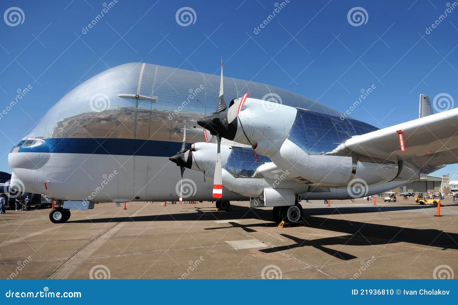 Die NASAsuperGuppyflugzeug